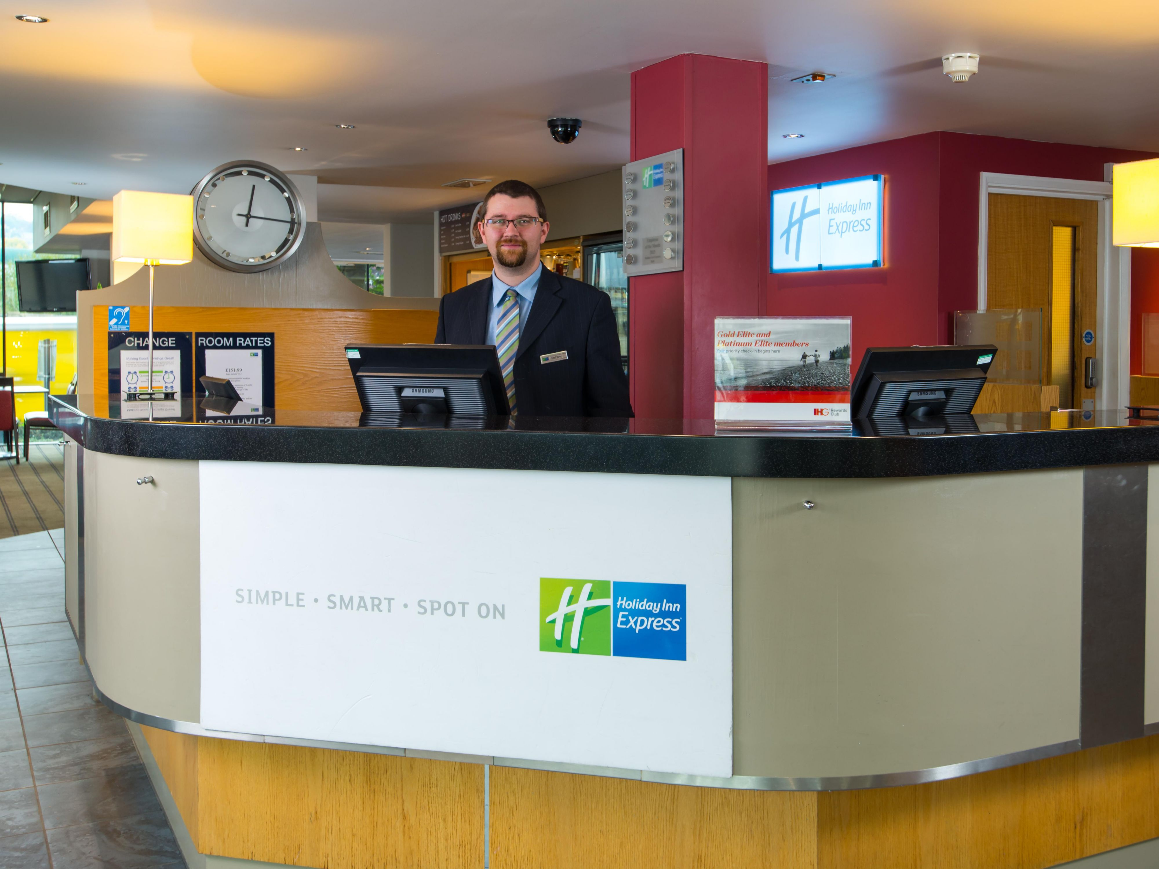 Our Reception team are on hand 24 hours a day for your convenience
