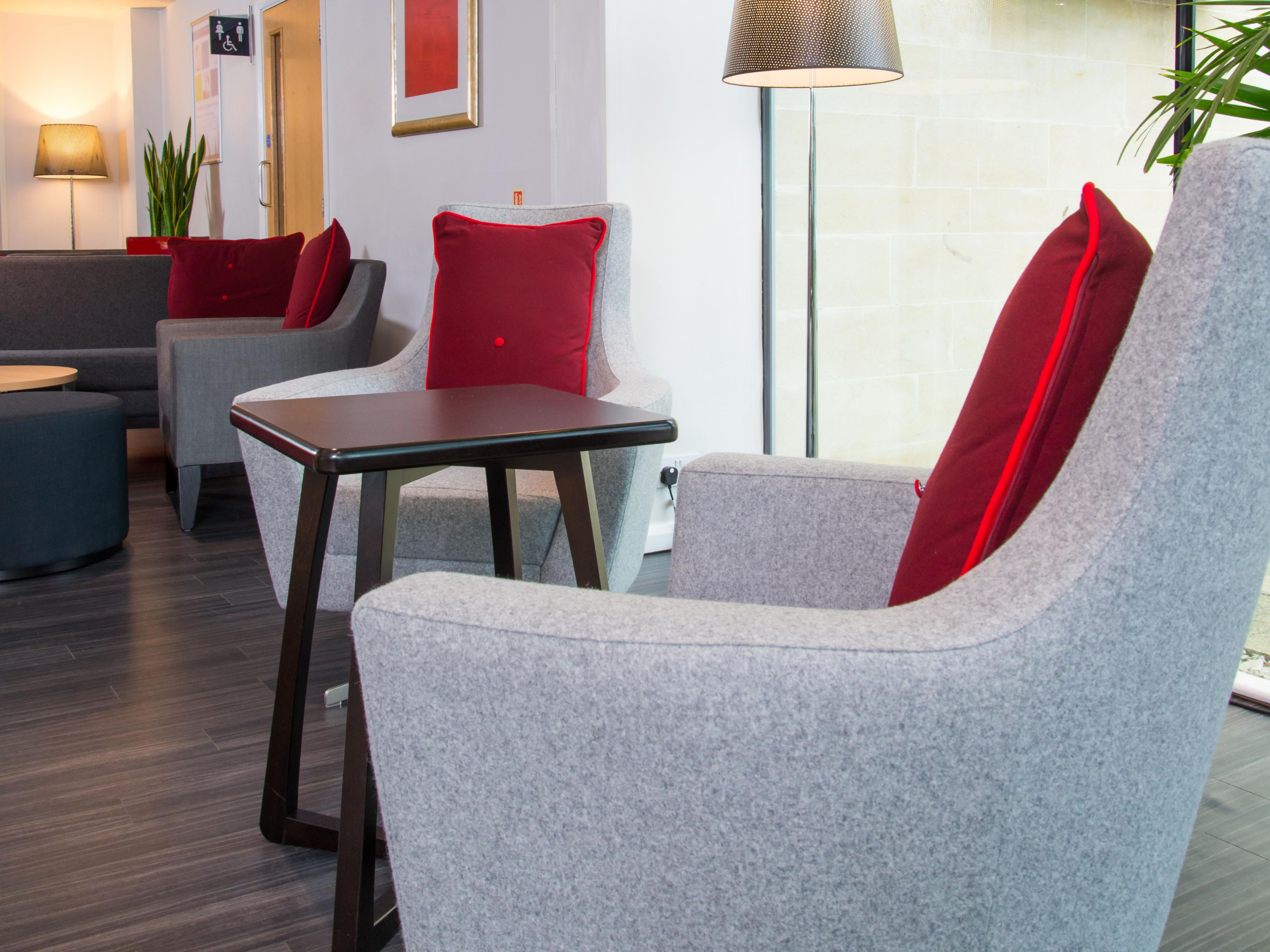 Sink into one of our comfy chairs at our Reception area