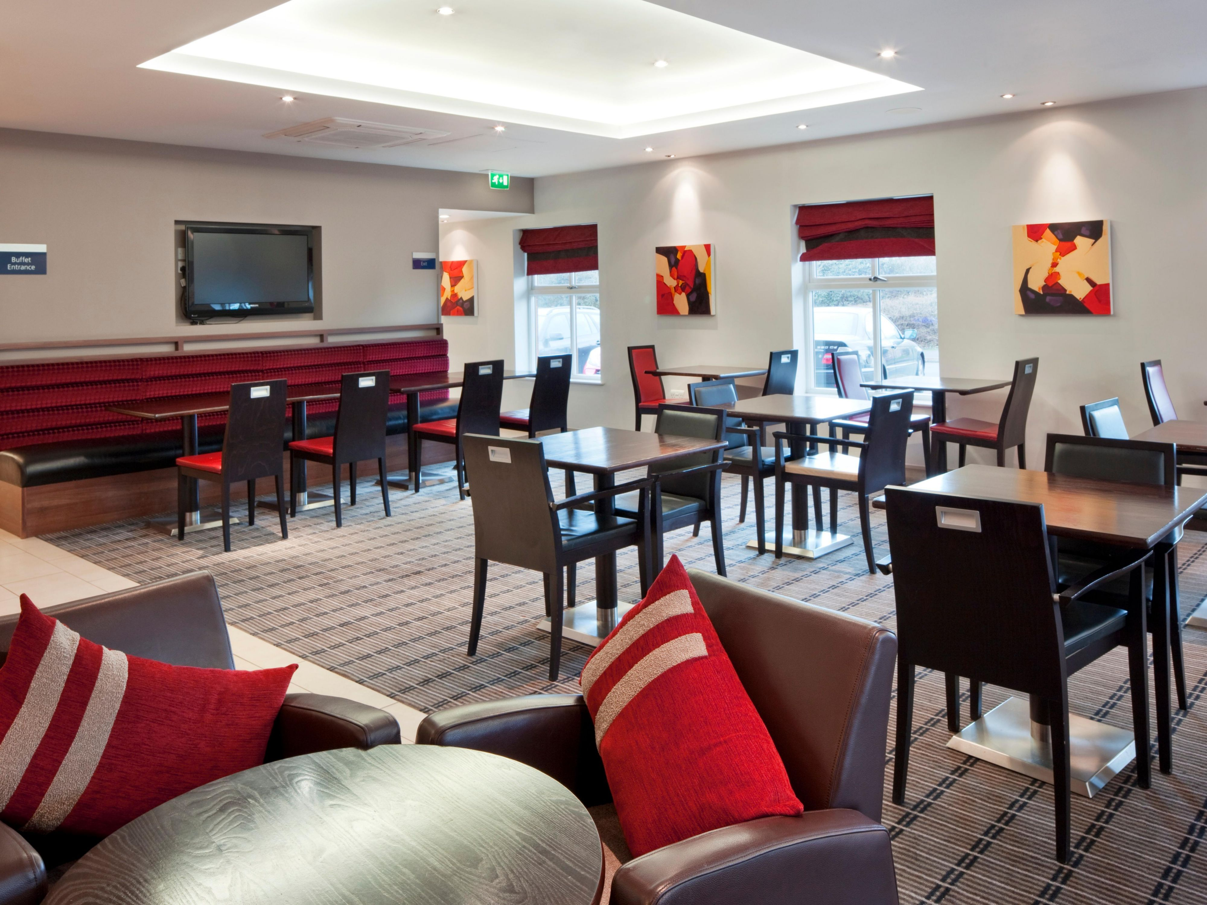 The lounge at the Holiday Inn Express hotel in Oldbury
