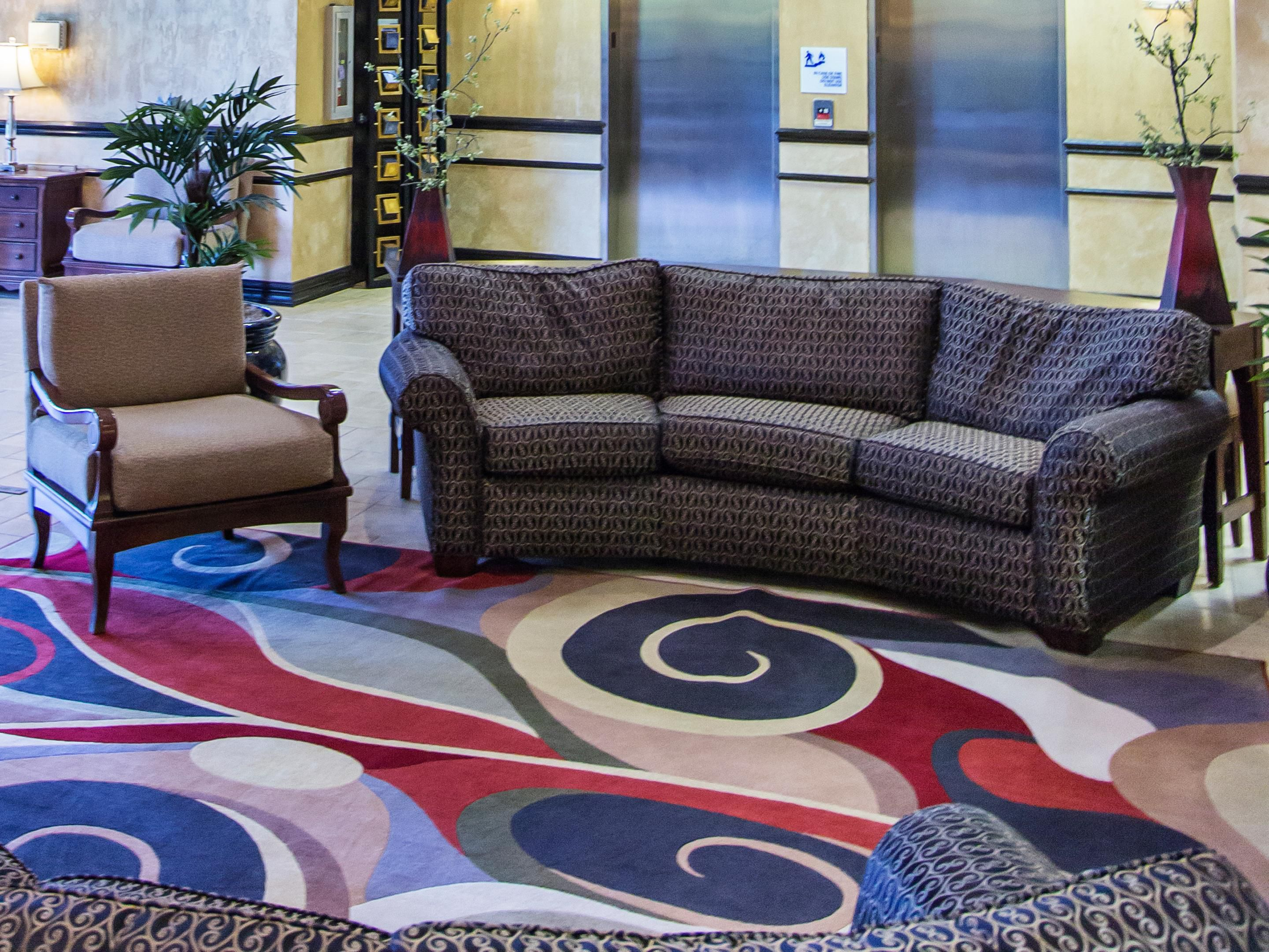 Spacious comfortable lobby seating