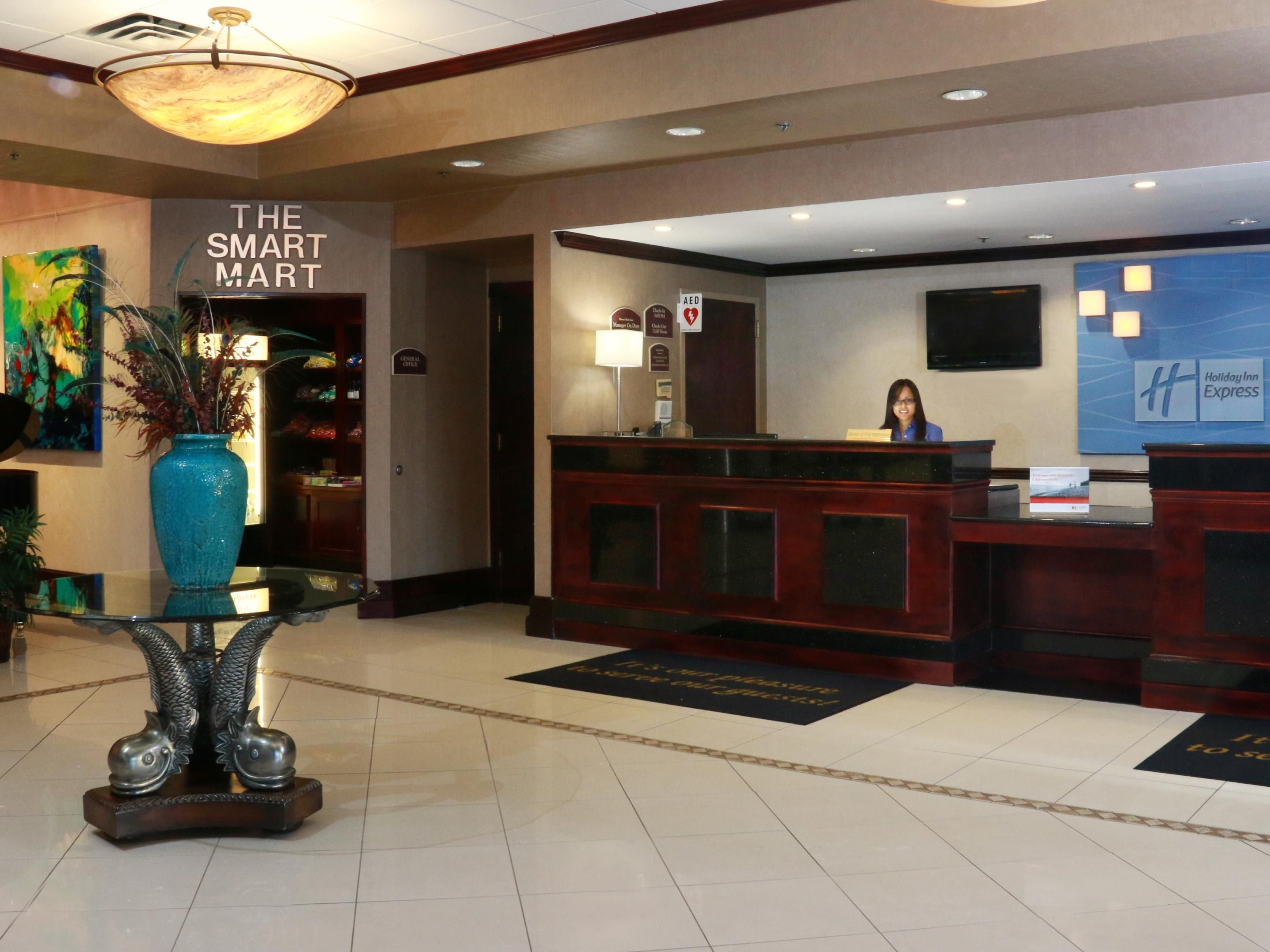 Our front desk agents are always ready to check you in!