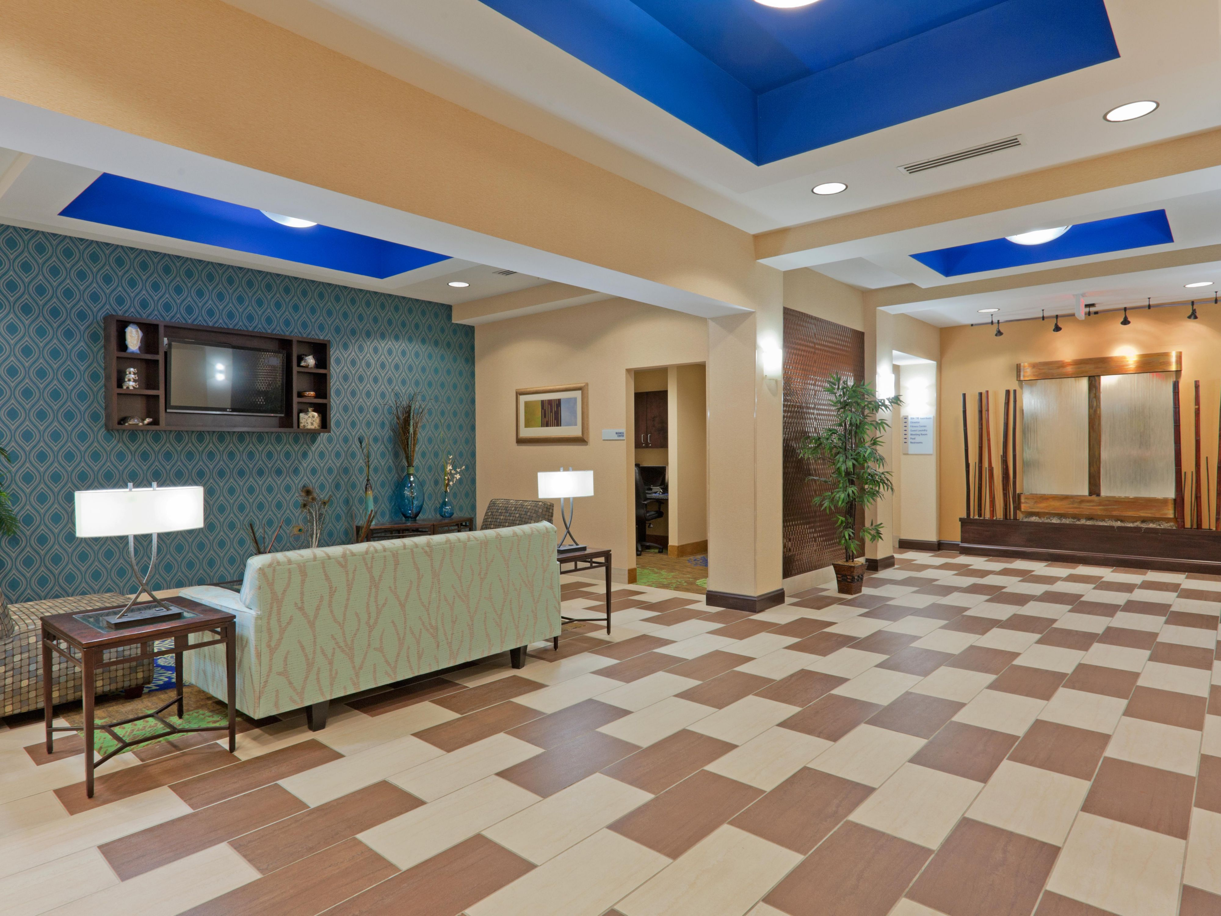 Hotel Lobby at entrance from front