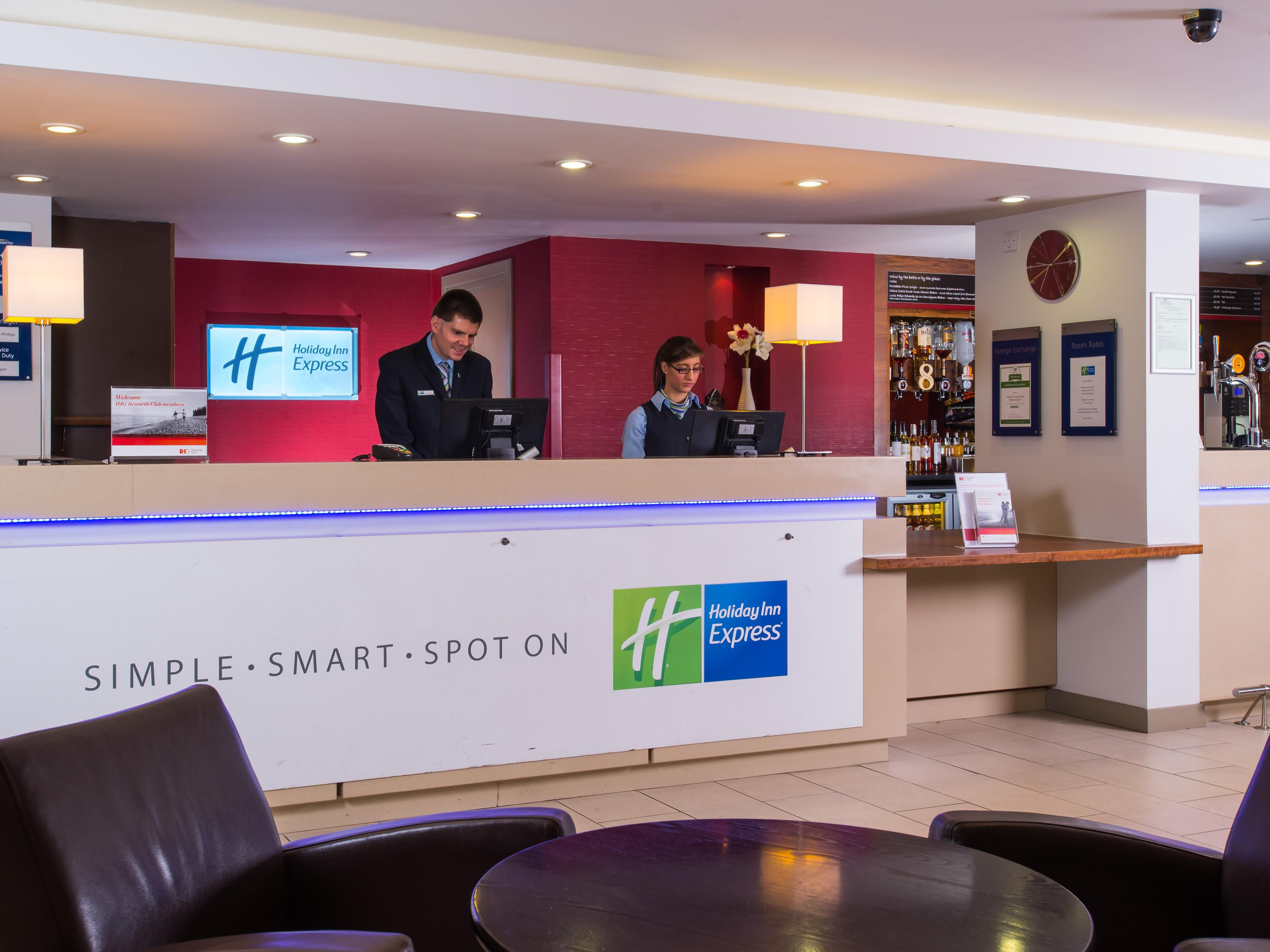 Reception at our East Midlands Airport hotel