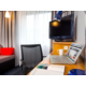 Each room has a work desk with lamp, chair and free Wi-Fi
