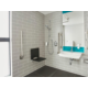 Accessible roll-in shower with amenities to suit your needs