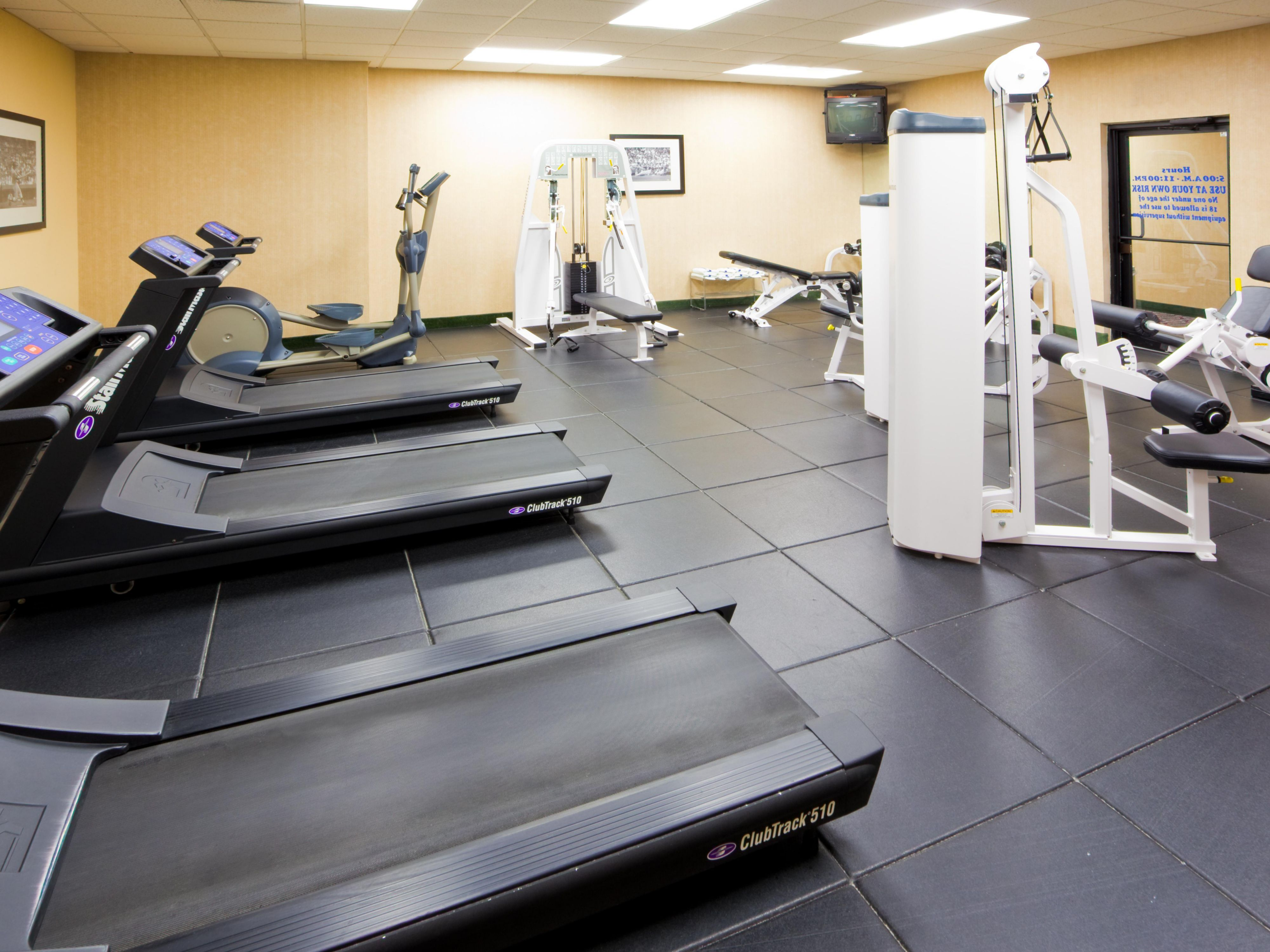 Enjoy our 10 Piece State of the Art Fitness Center