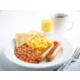 Enjoy our hot items from 6.30am, sausages, scrambled eggs & beans