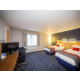 Twin bedded accessible room