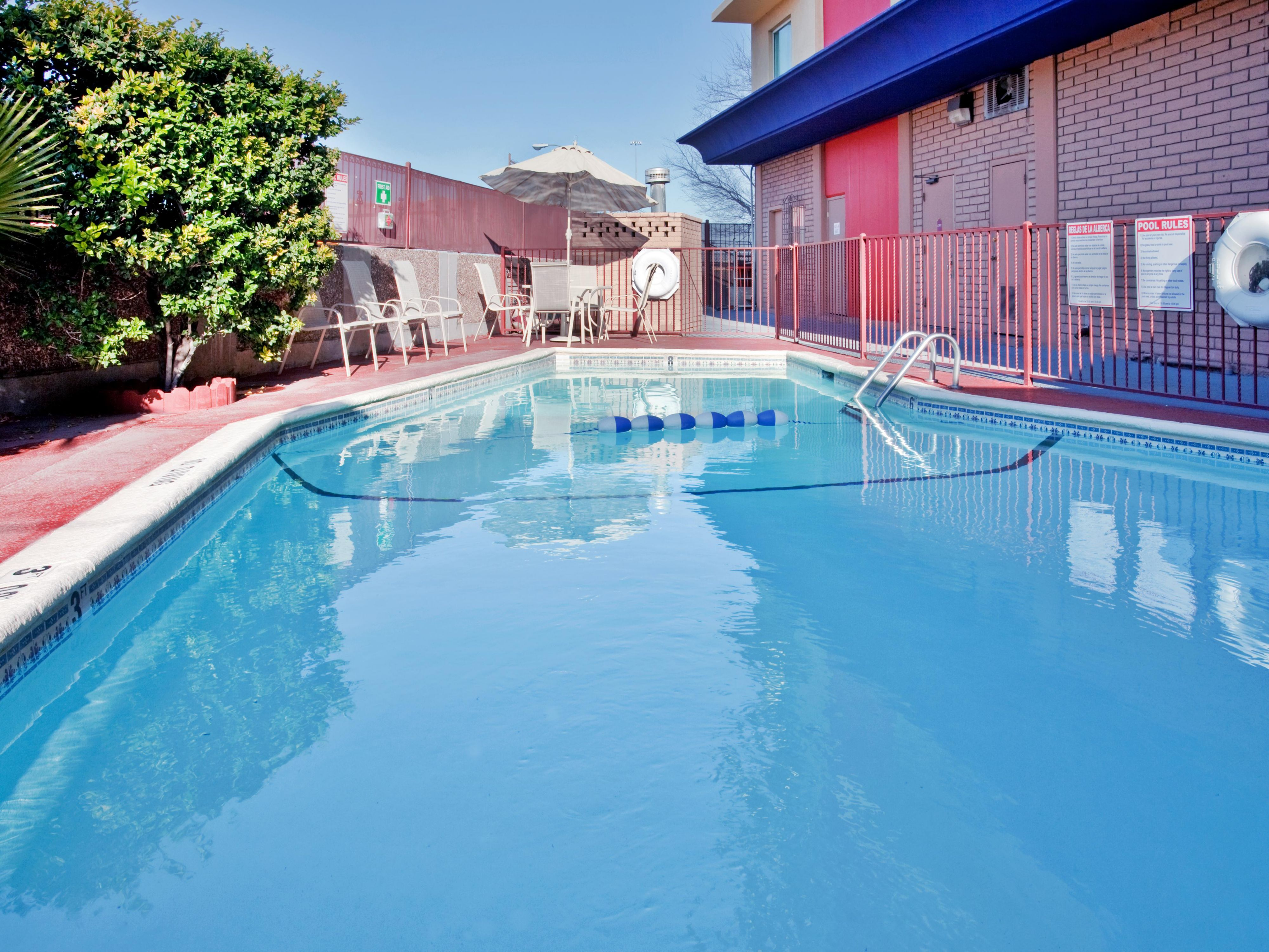 Unwind and relax in our El Paso hotel swimming pool! Ah!