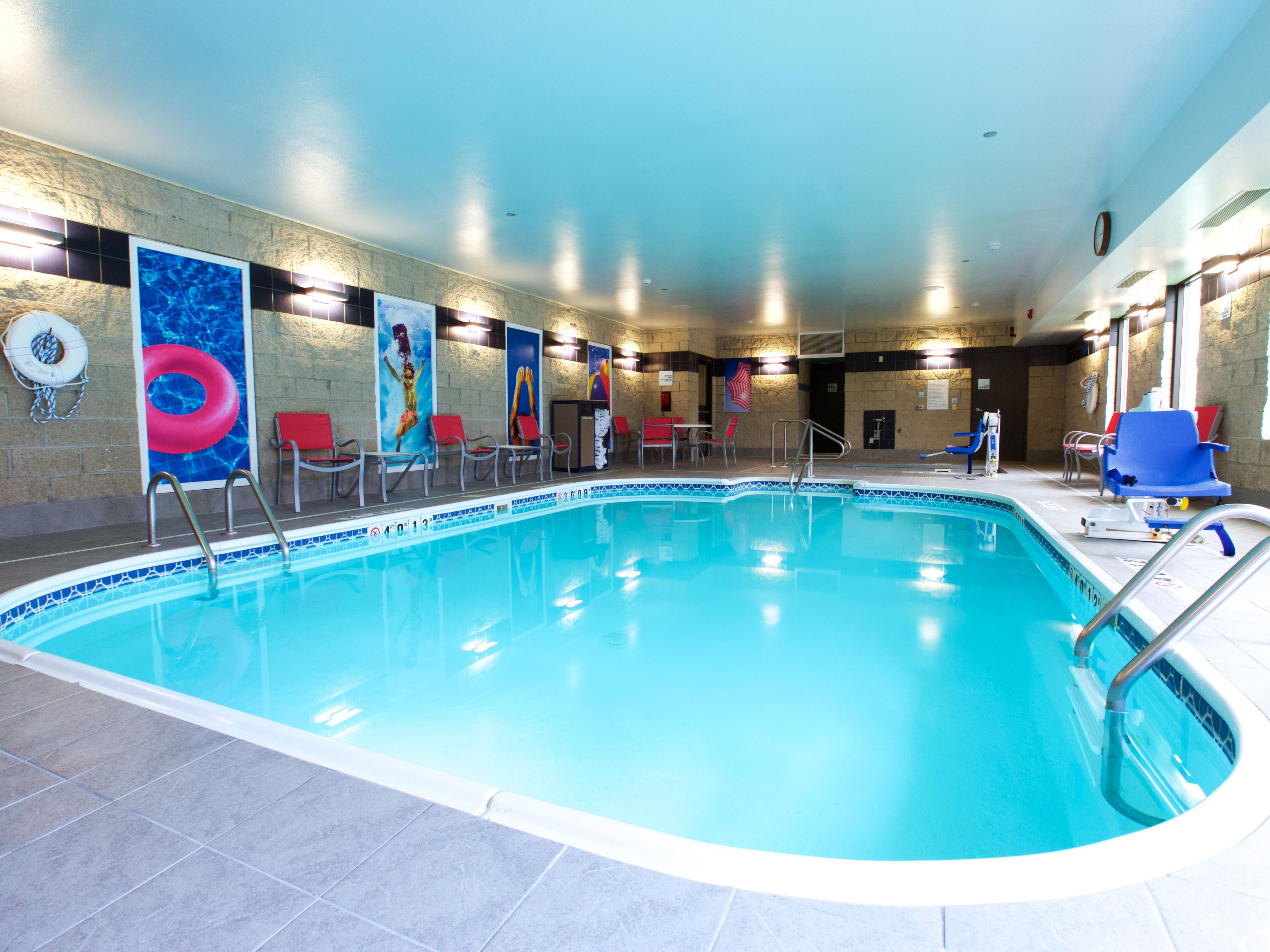Relax in our updated pool area.