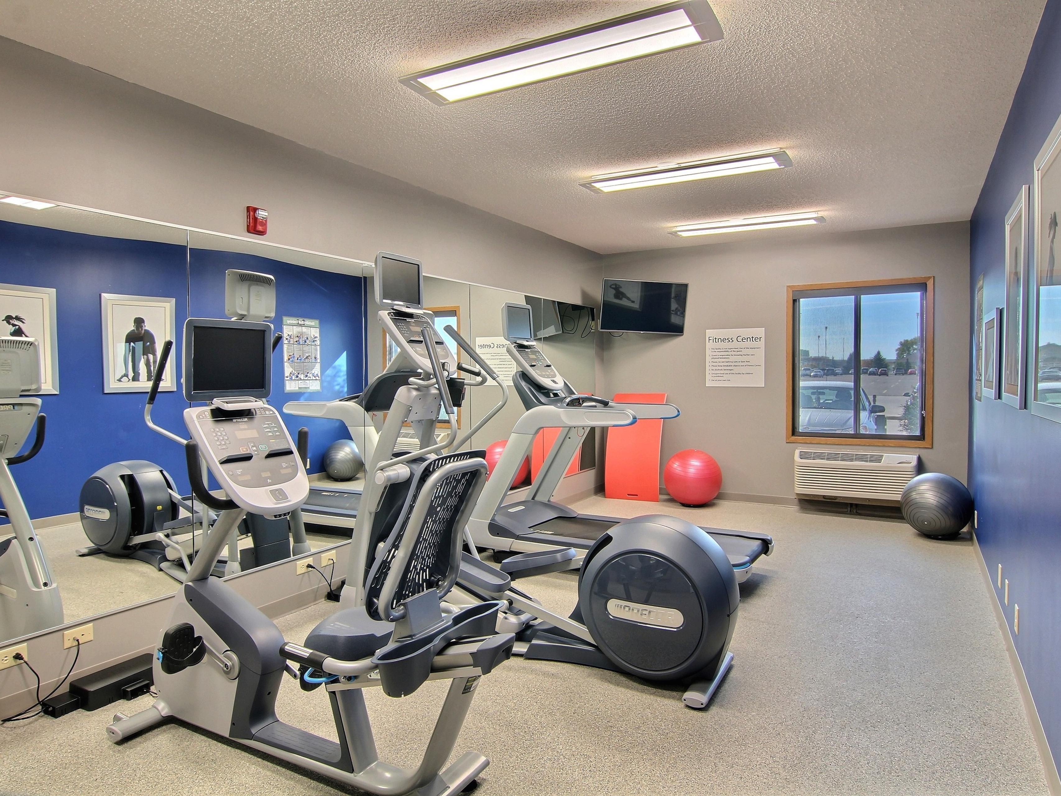 Stay in shape in our brand new fitness center with individual TVs