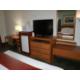 Desk, chair, microwavr, refrigerator, 32