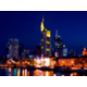 Skyline of Frankfurt by night