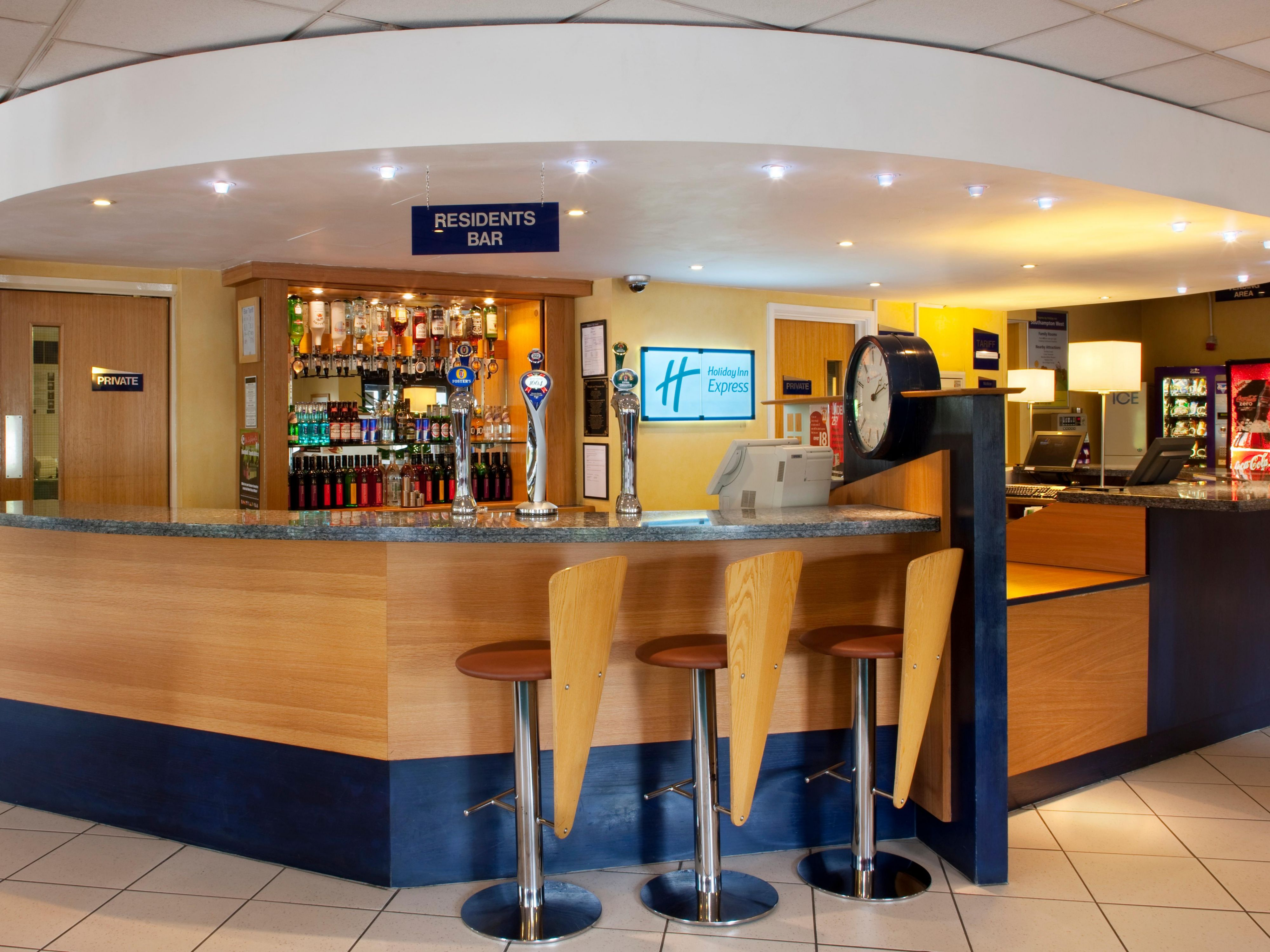 Our bar is open throughout the day and serves a variety of drinks