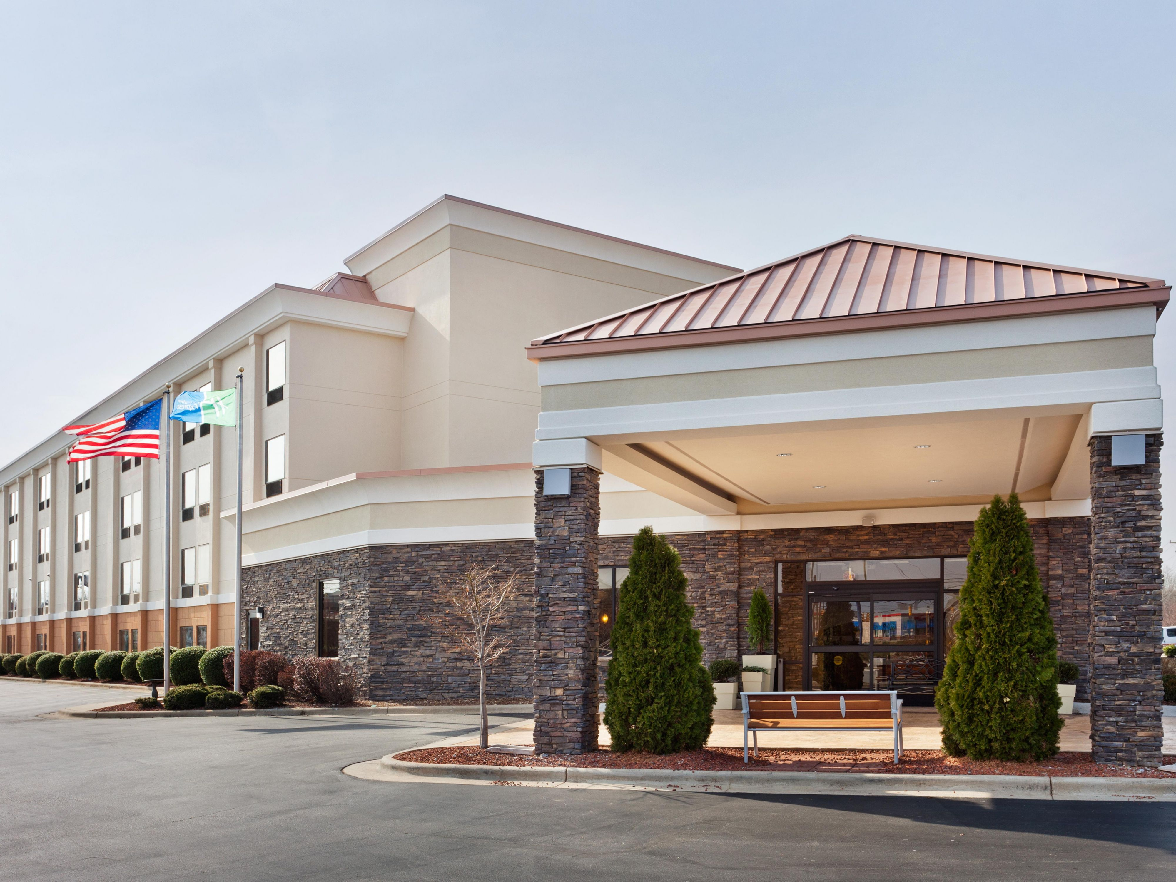 Our Greensboro hotel is right off I-40 and Wendover Avenue