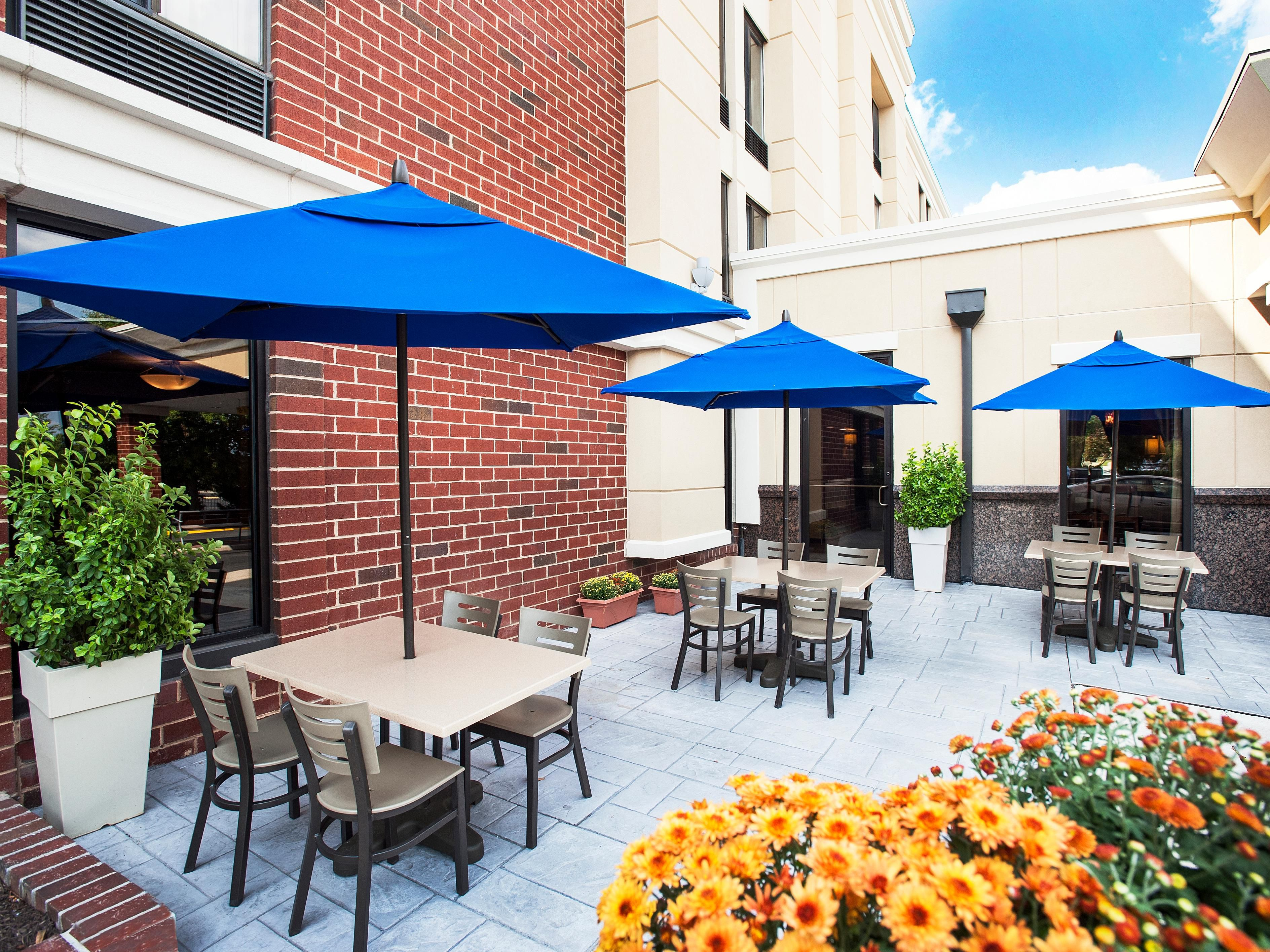 Enjoy the warm weather out on our Reston, VA hotel's Guest Patio.