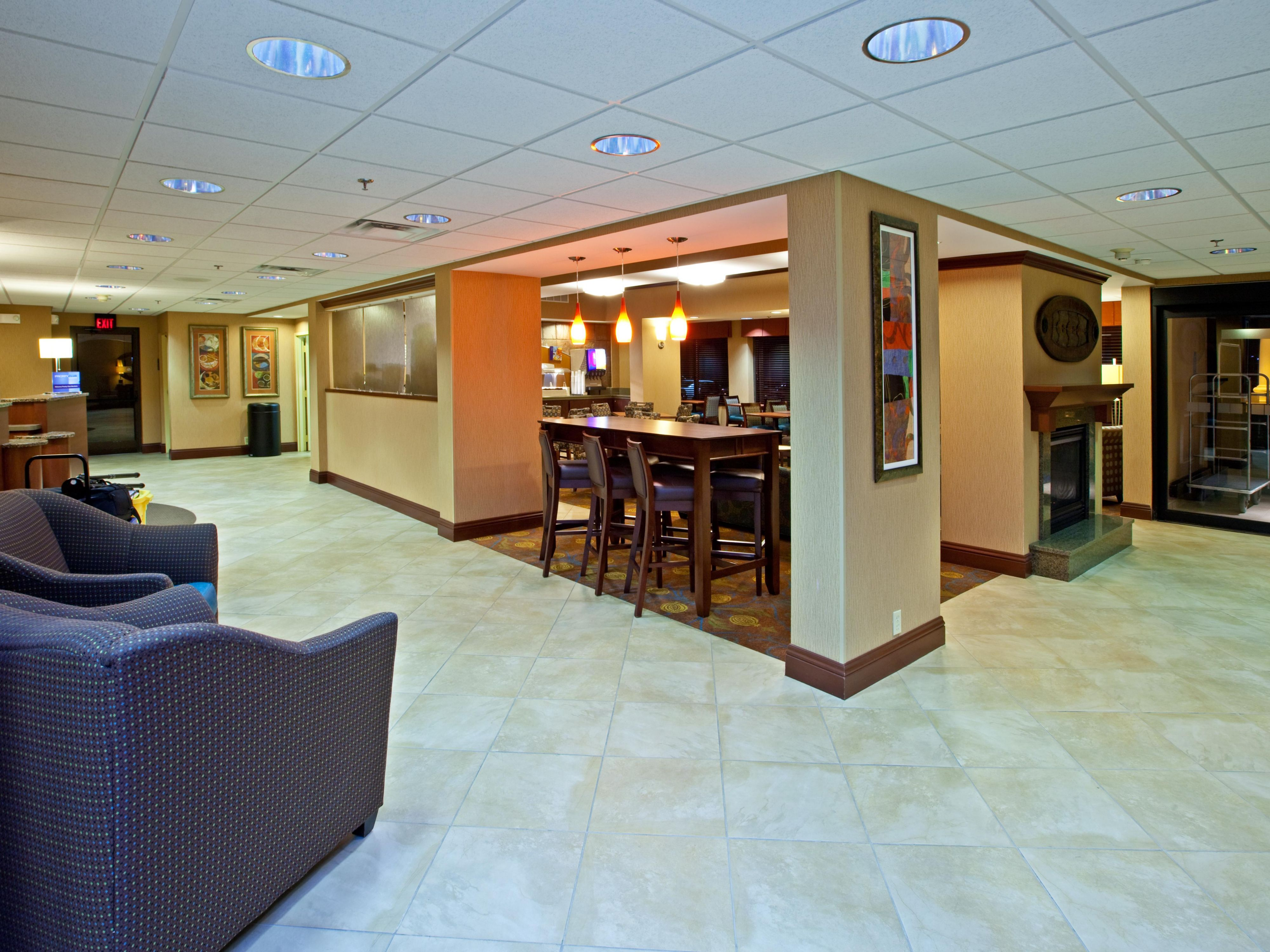 Meet up with your group in our comfortable lobby seating area