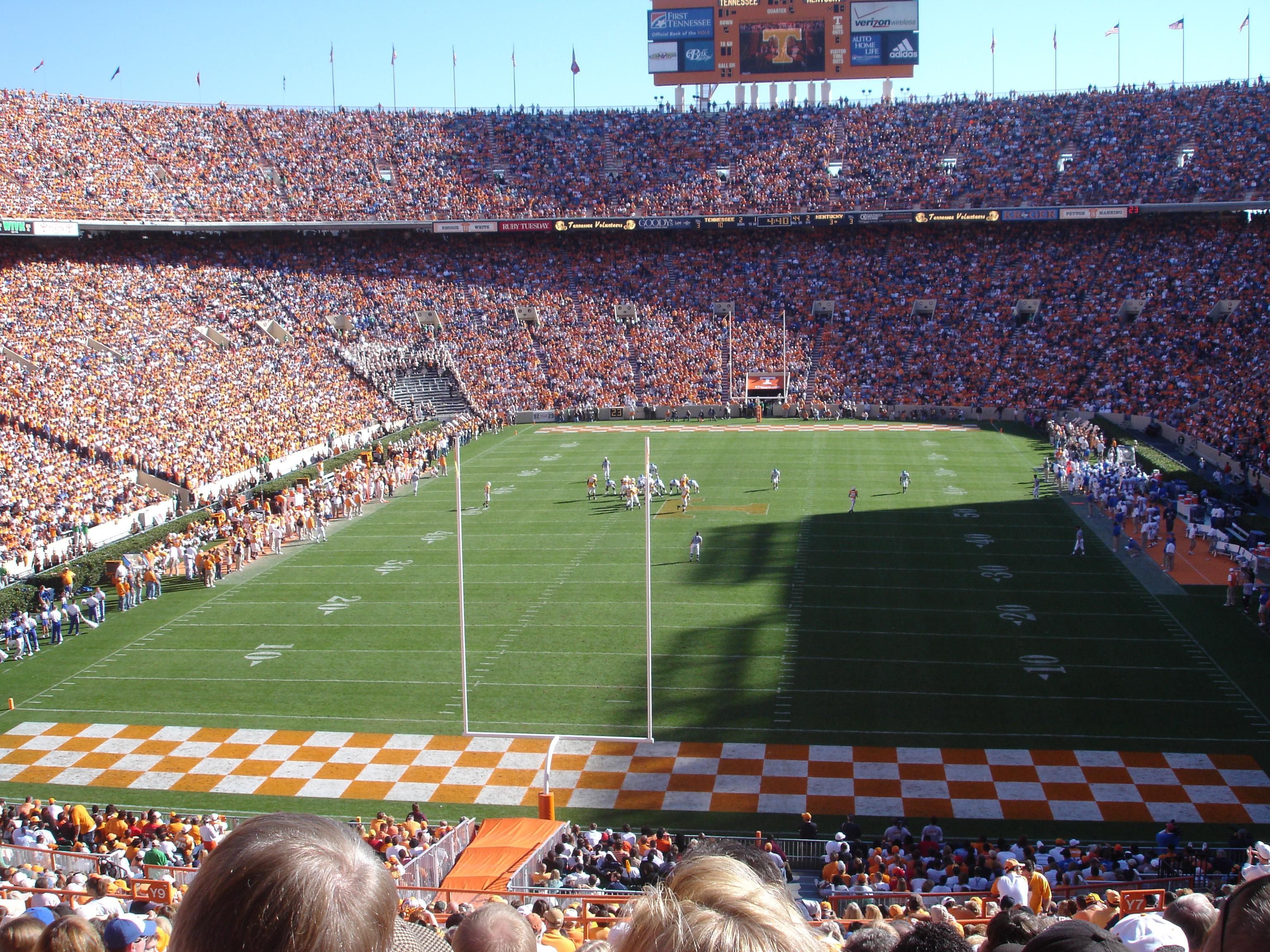 Enjoy a football game at Neyland Stadium! Go Vols!