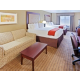 Spread out in our large rooms with two queen beds