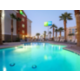 Holiday Inn Express Las Vegas South Outdoor Heated Pool at dusk