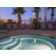 Holiday Inn Express Las Vegas South Outdoor Spa in the evening