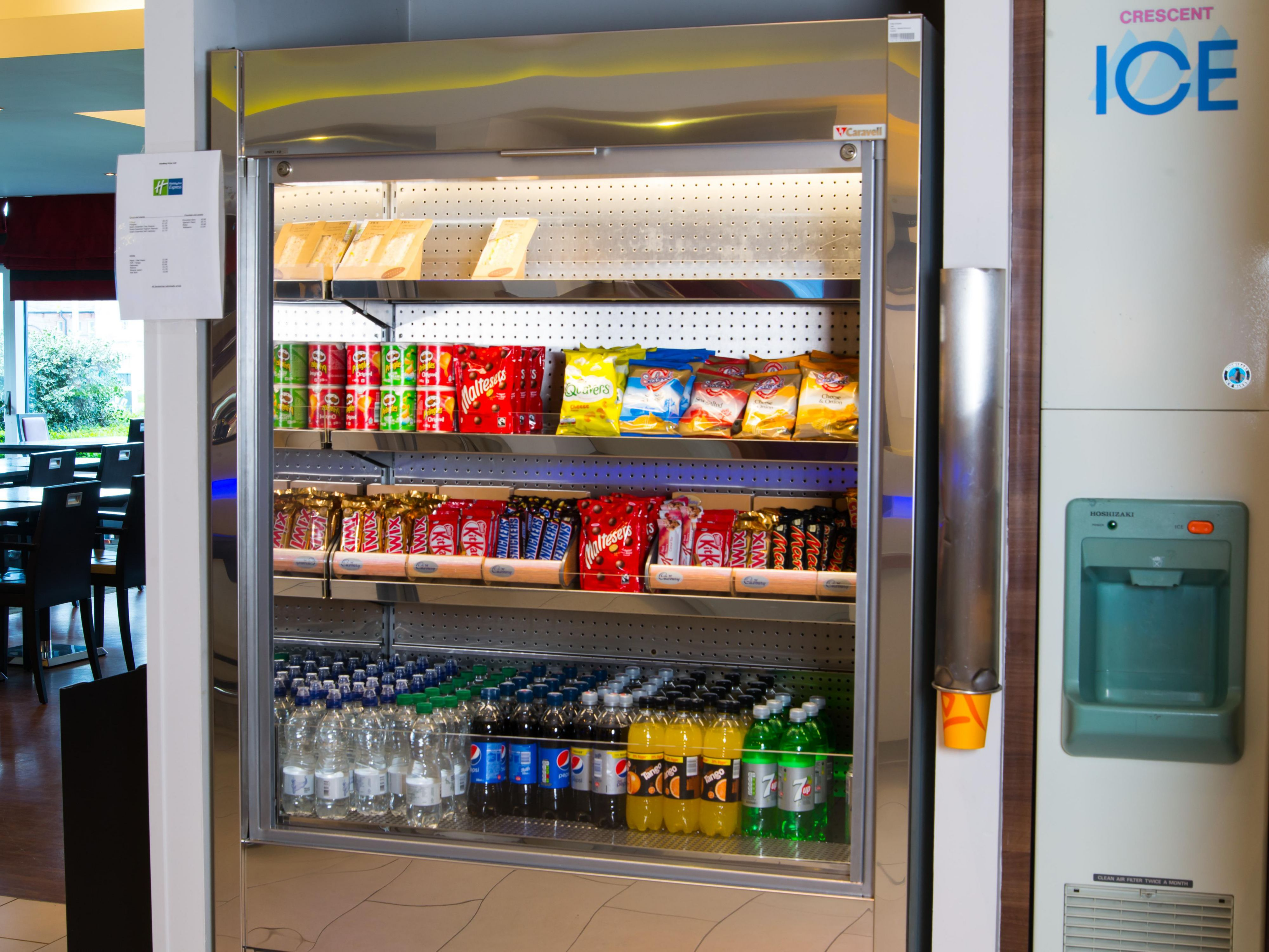 Feeling peckish? Grab a snack from our vending machine