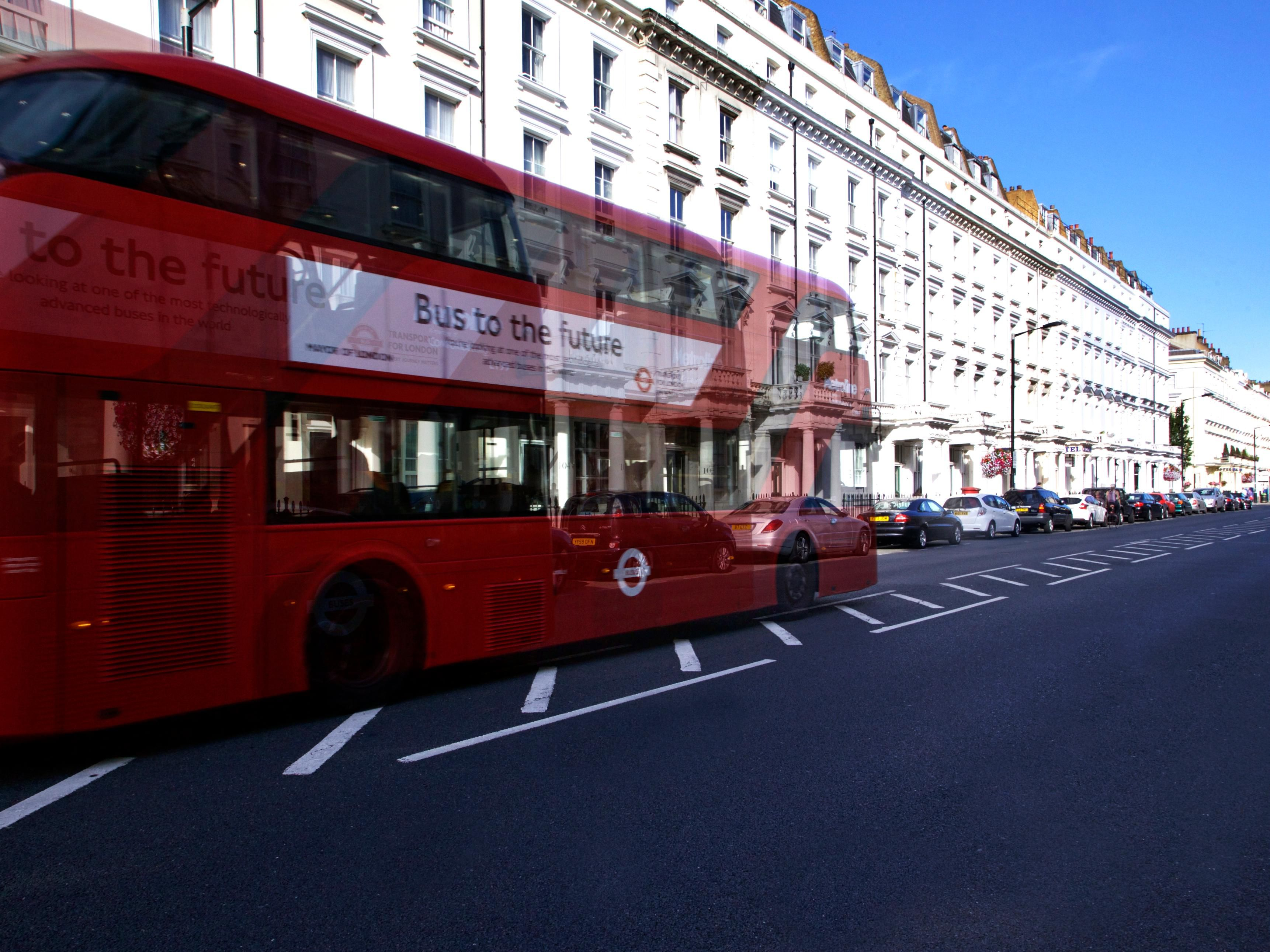 Bus Route 24 passing outside the hotel