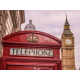 Iconic Telephone Box and Big Ben