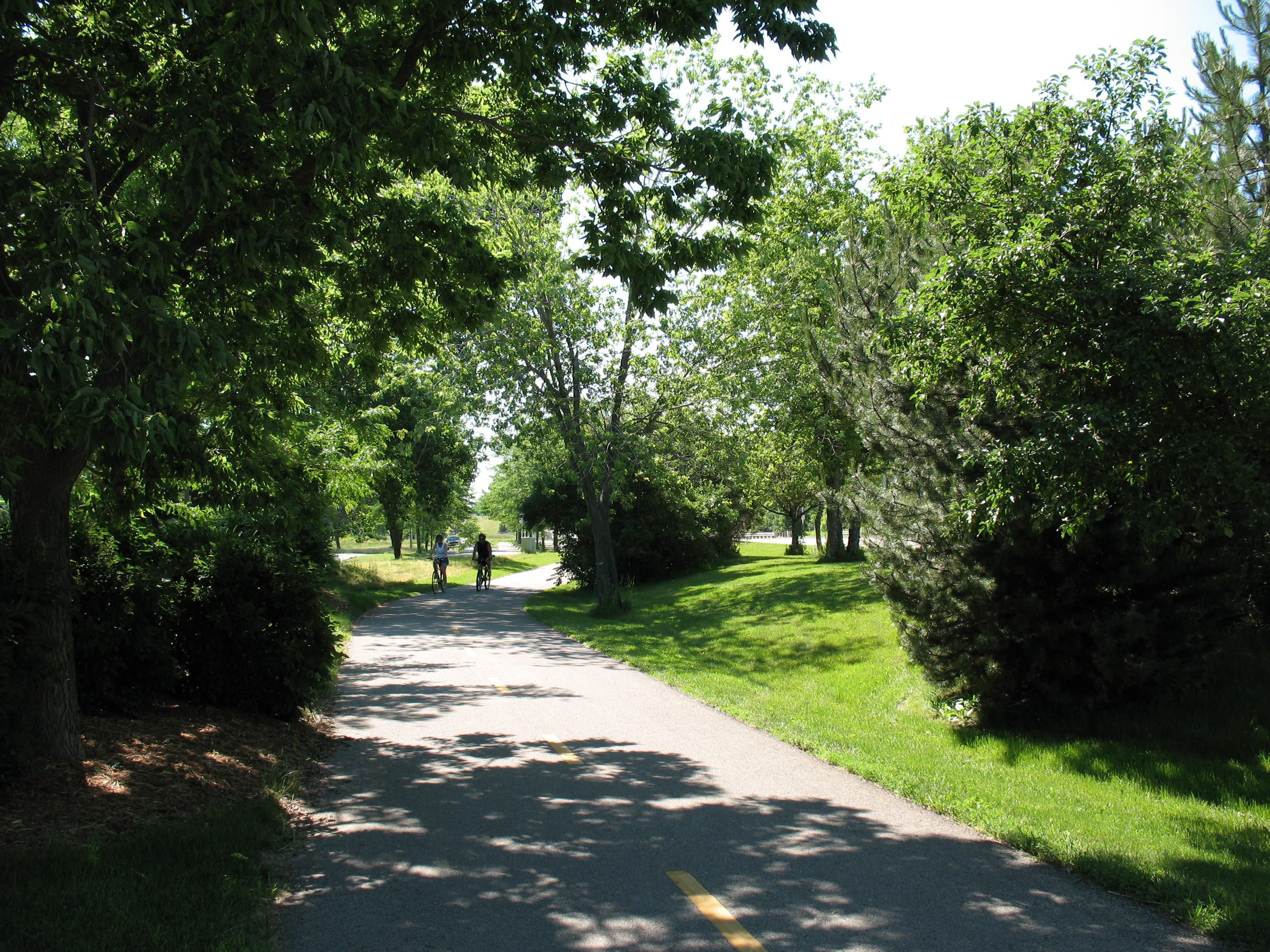 Capital City State Bike Trail adjacent to inn