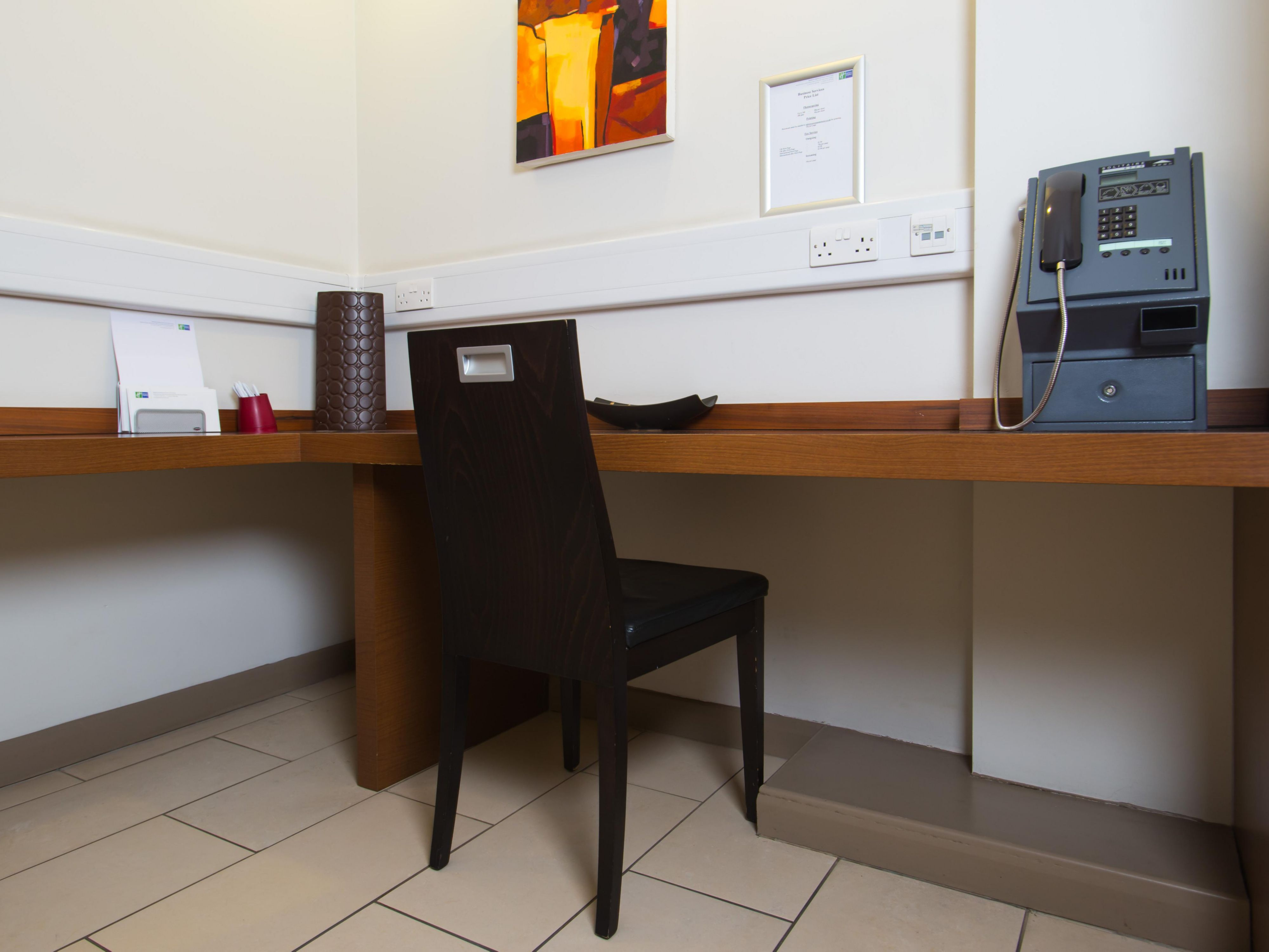 Our Business Centre is located opposite Reception