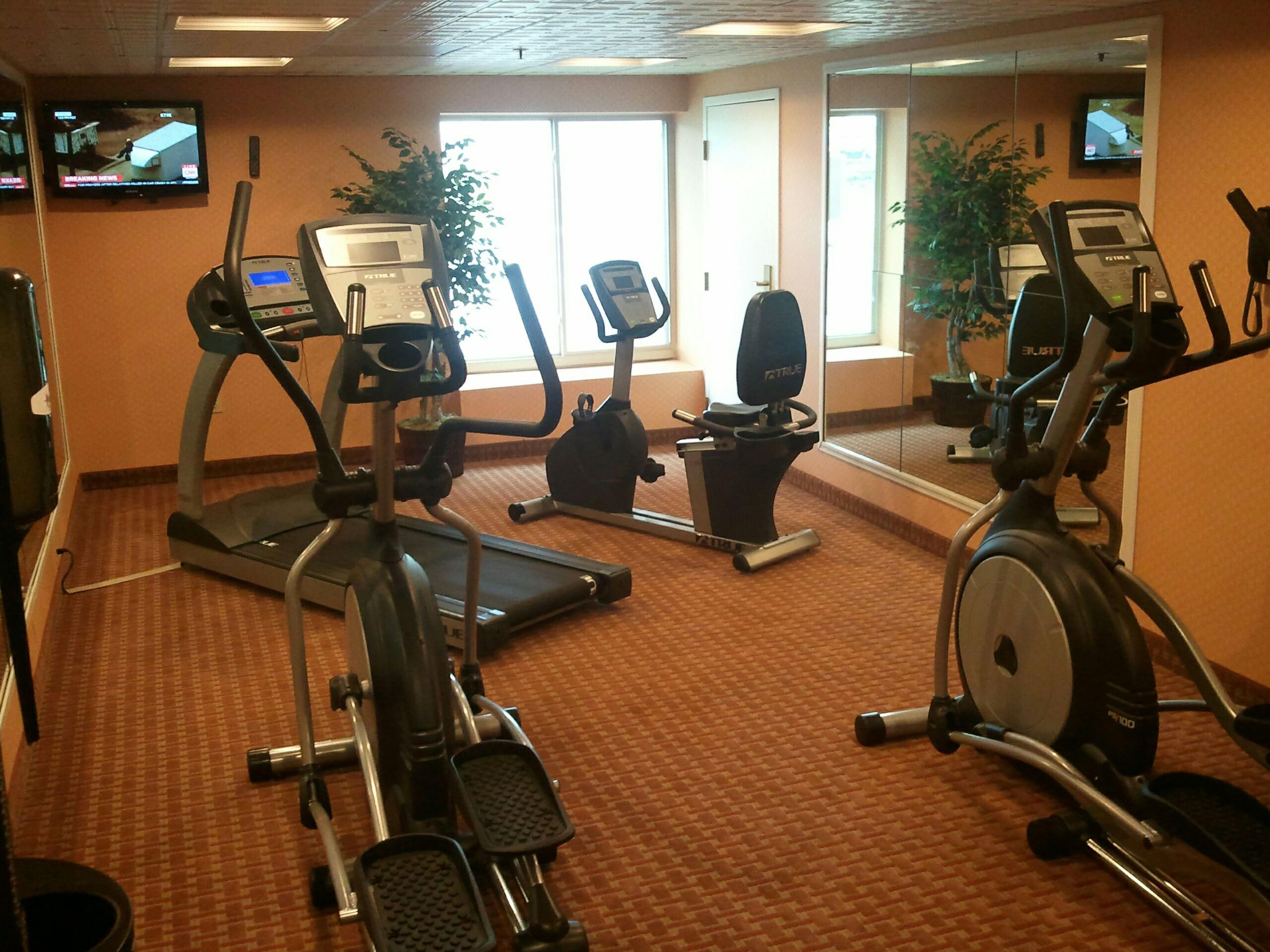 Spacious Fitness Center With LCD TV