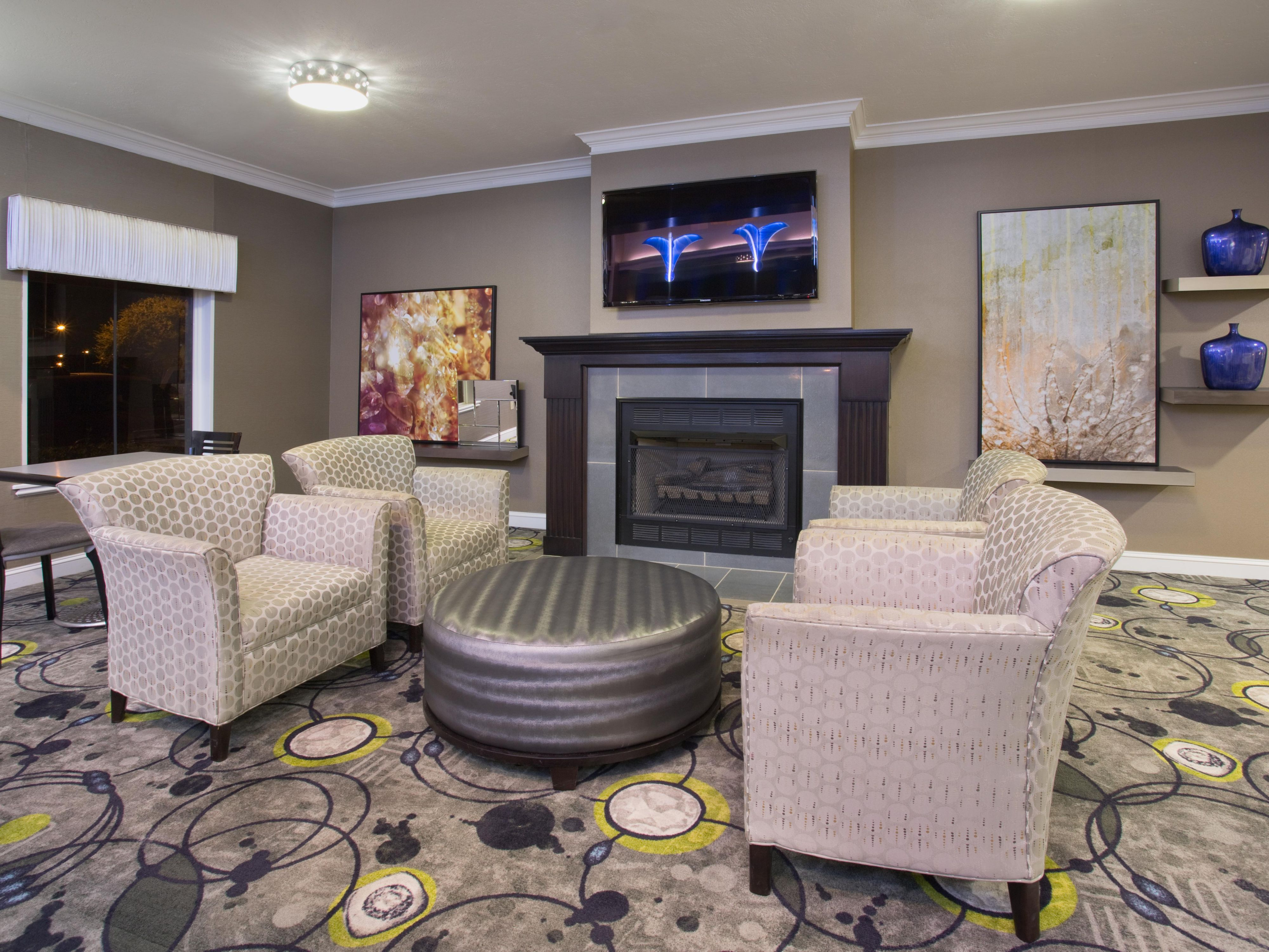 Relax in our comfortable Lobby Lounge area