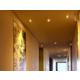 Les couloirs donnant accès aux chambres