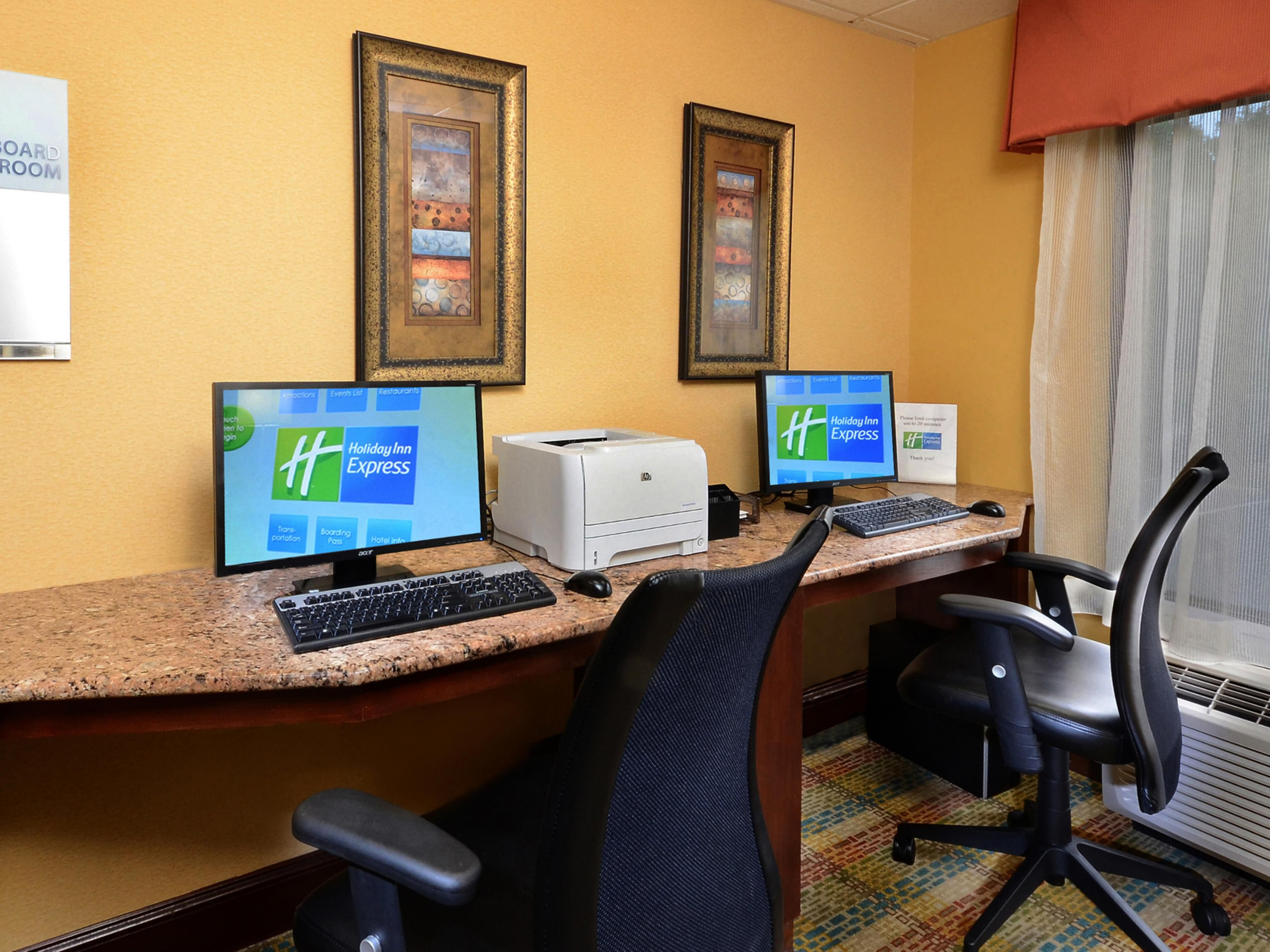 Keep up with work in our business center with Internet access