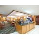 Holiday Inn Express Moss Point complimentary breakfast buffet.