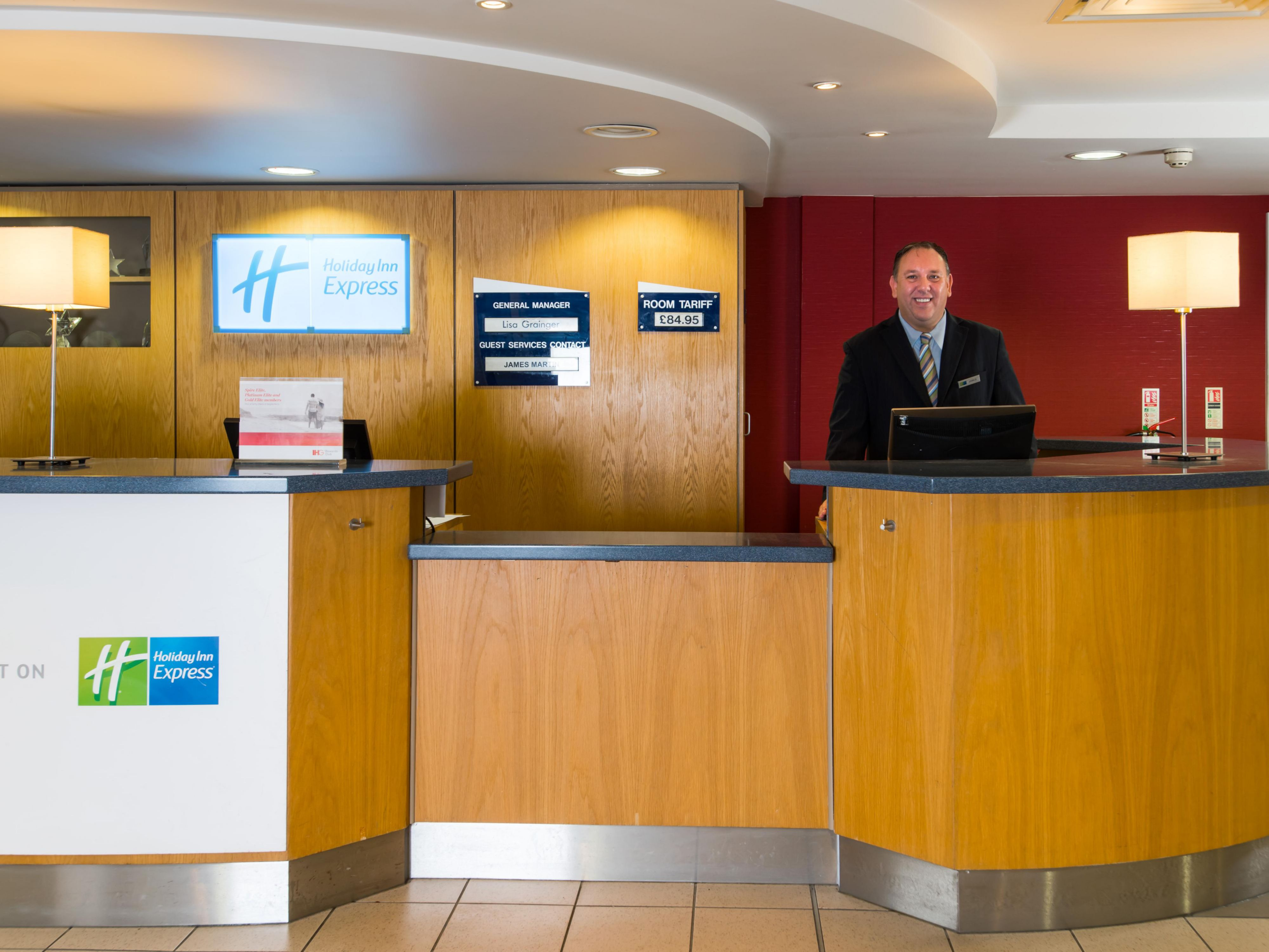 Our friendly Reception team are here to welcome you