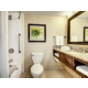 Standard and Accessible Bathroom with Tub Shower