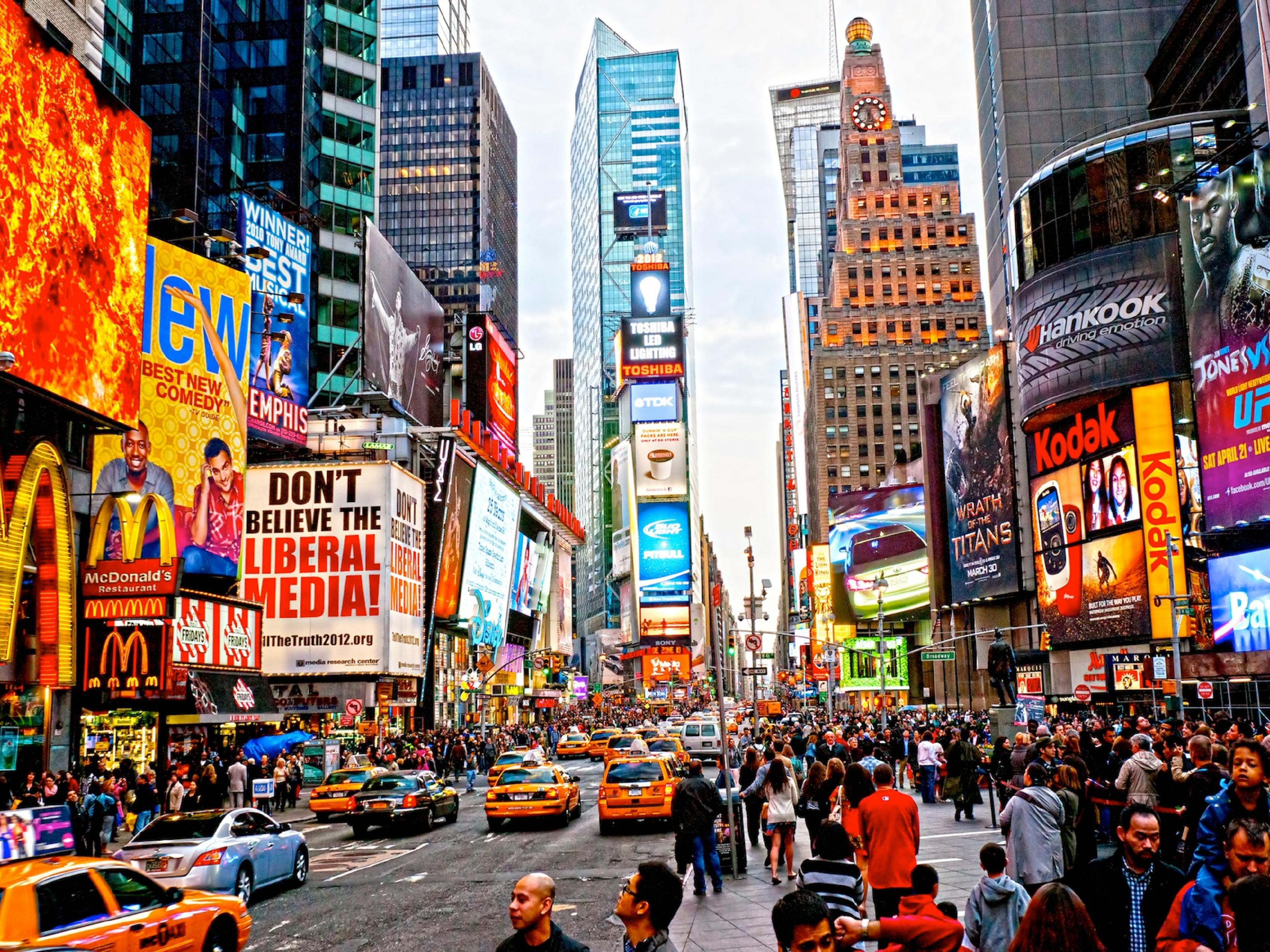 Must see attraction Times Square just few blocks away