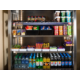 If you're feeling peckish, pick up a snack from the vending fridge