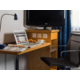 Work remotely in your room with desk, lamp, chair and free Wi-Fi