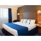 Double beds large enough to get lost in limited smoking available
