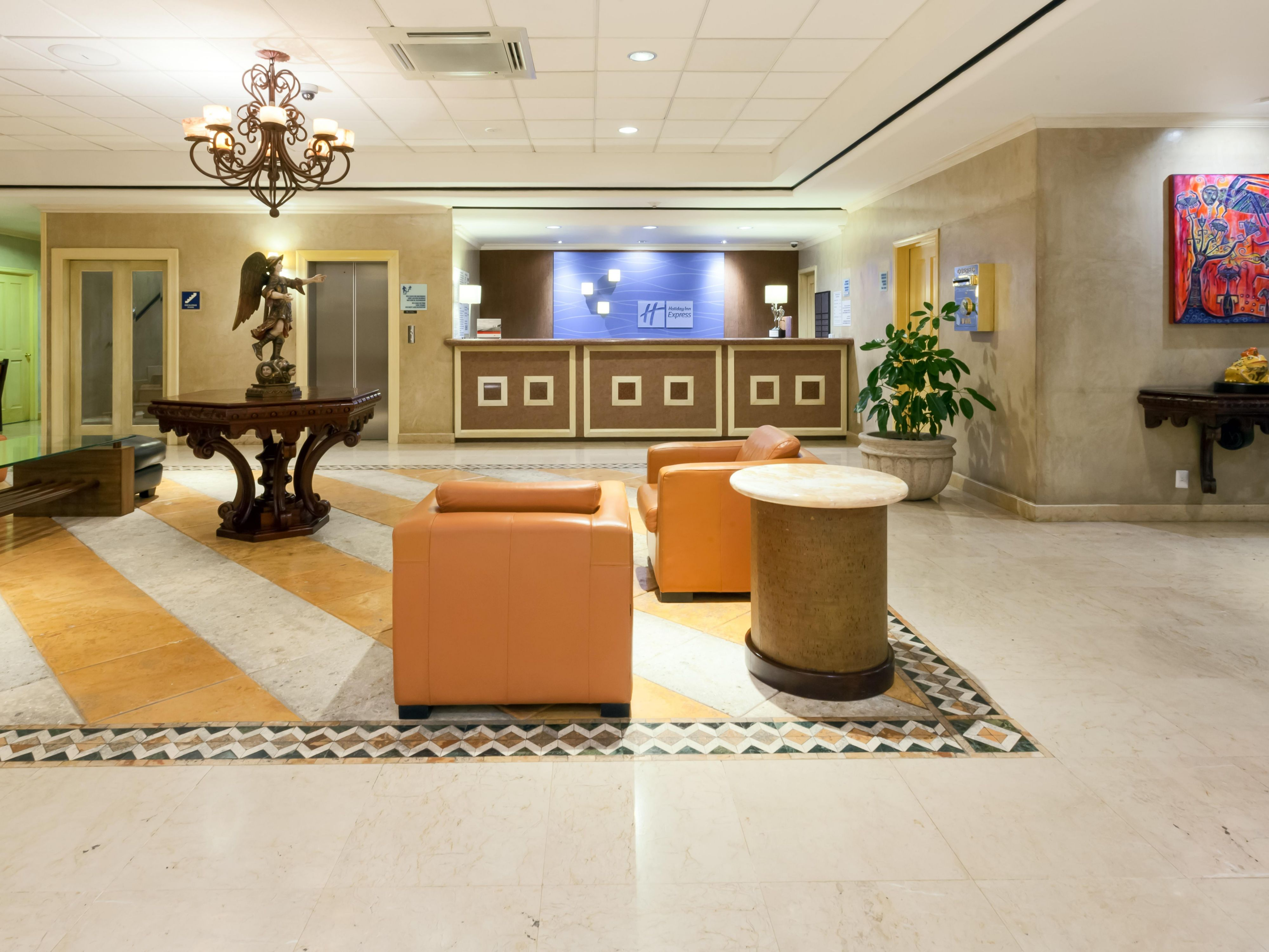 Step inside our stylish Lobby