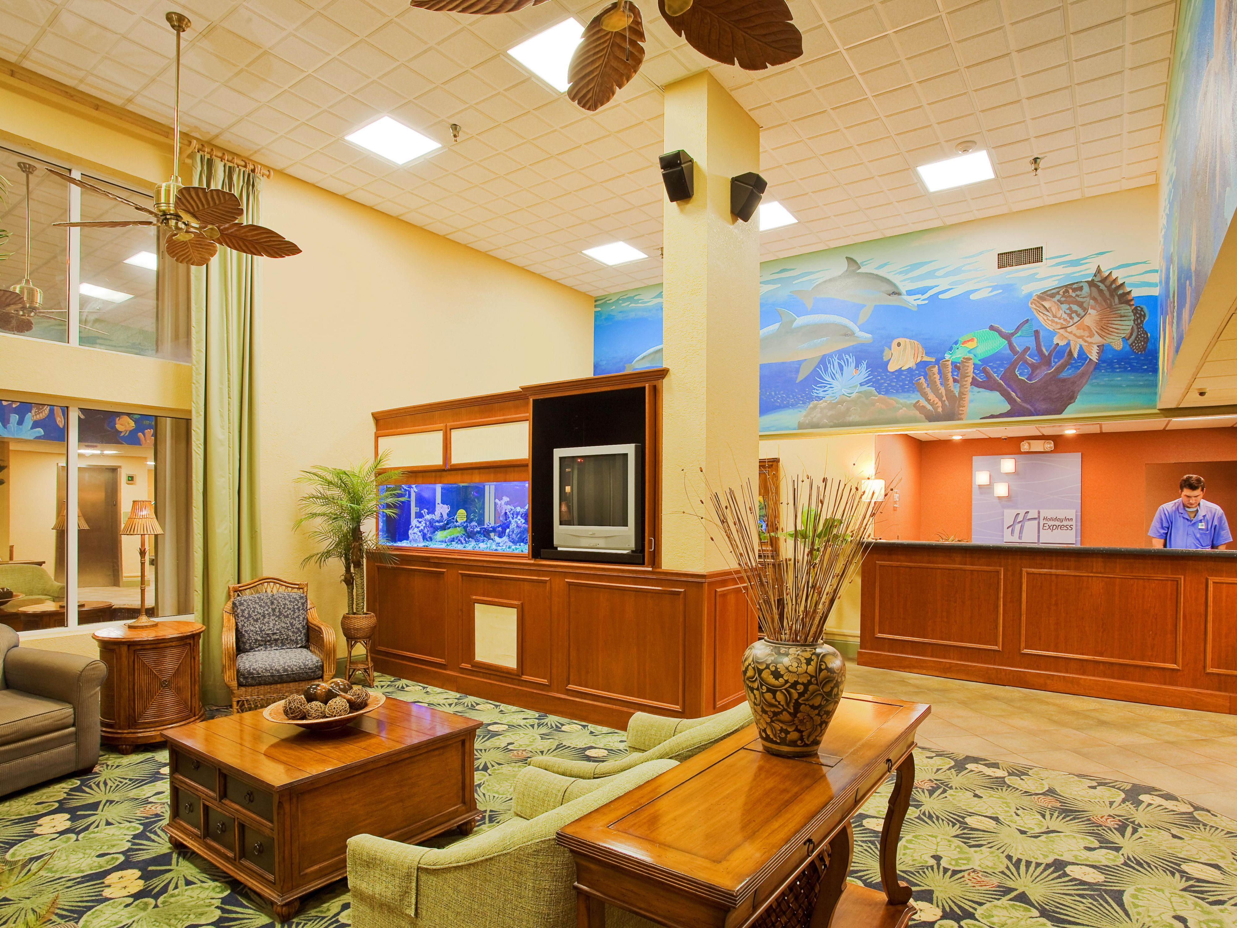 Relax in our Comfortable Lobby