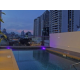 Rooftop pool with city views
