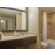 Enjoy our spacious bath area and large granite countertop!
