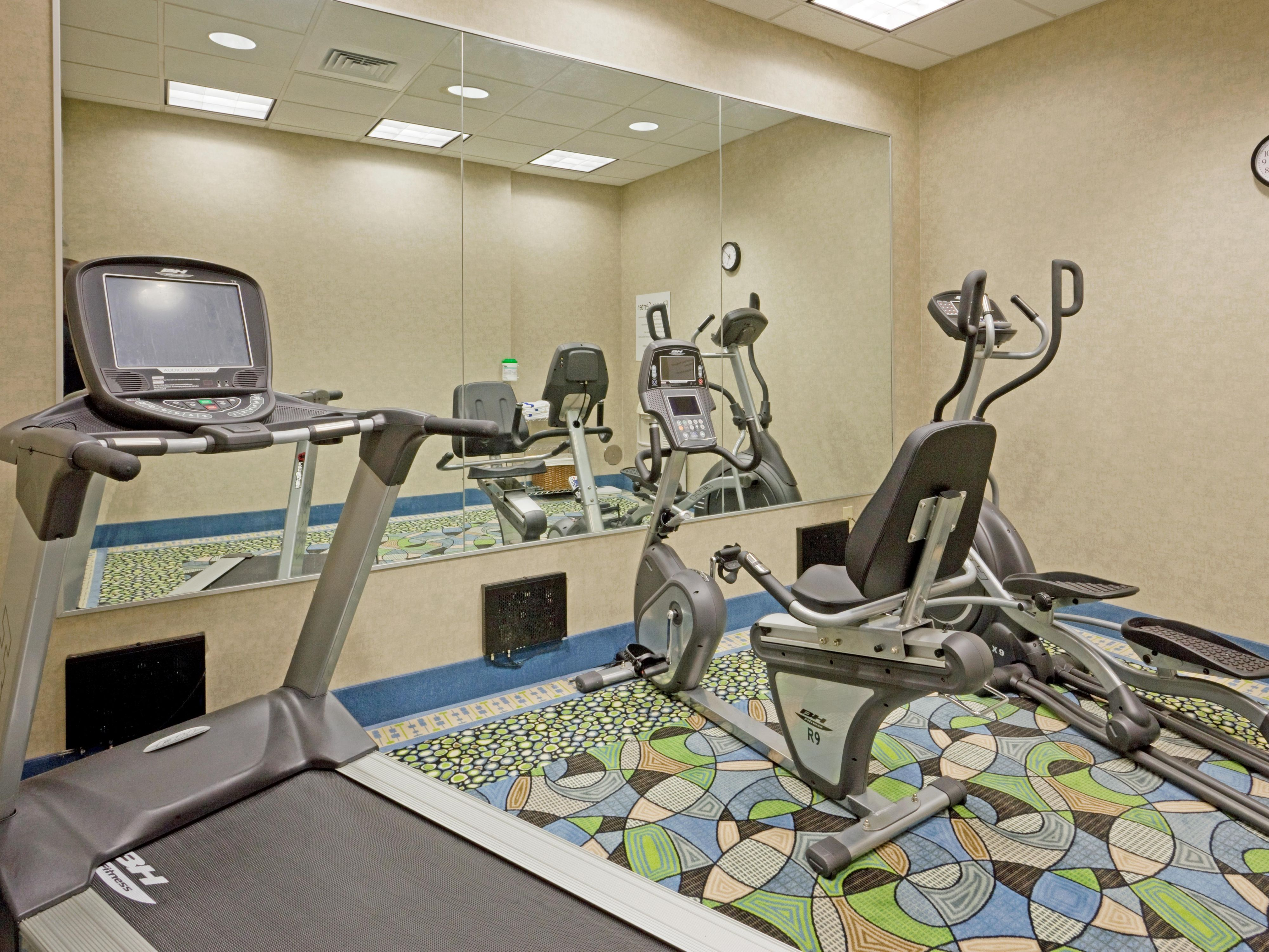 New  fitness equipment with personal TVs