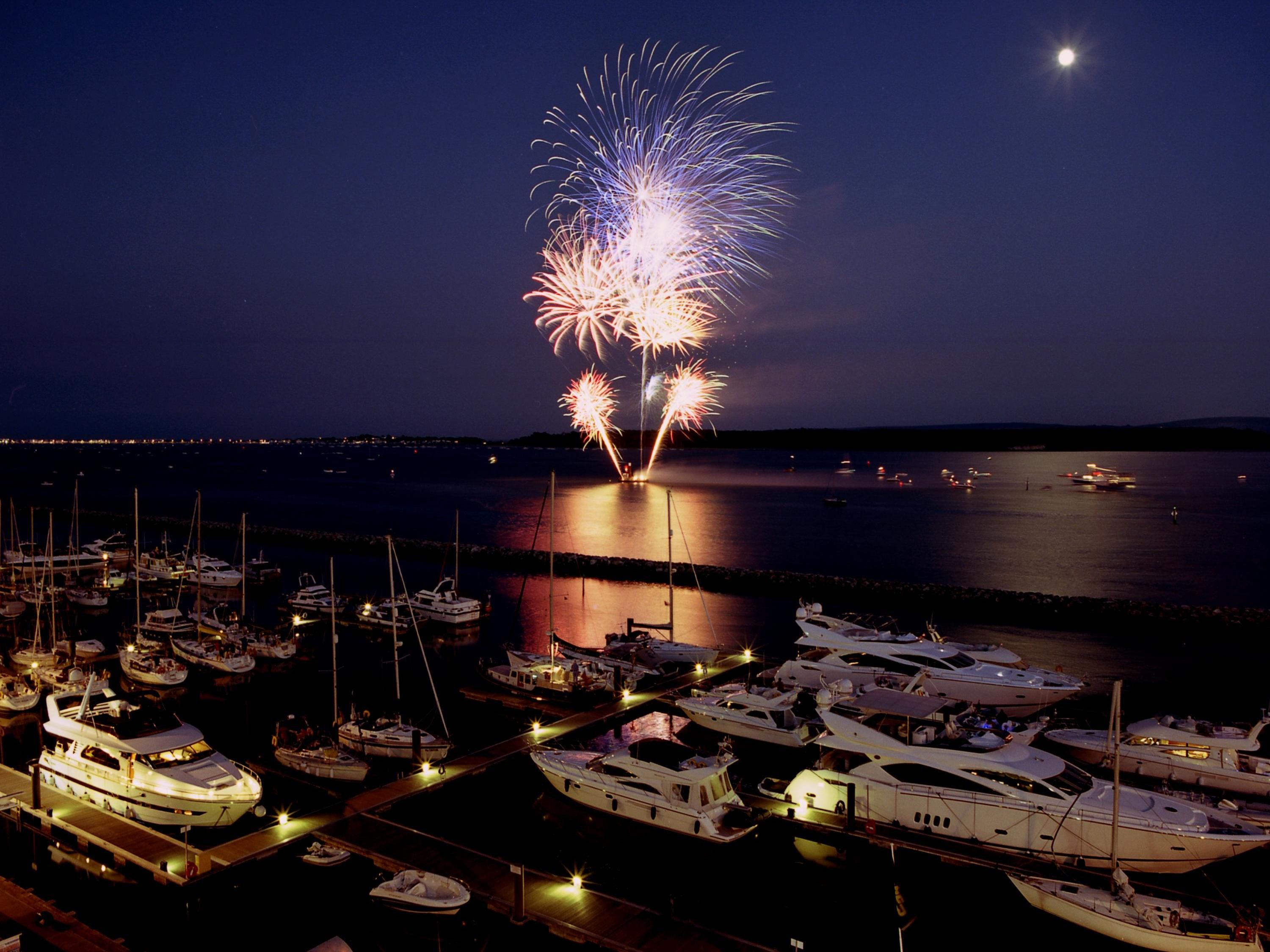 Fireworks on Poole Quay Credit Sue Sieger
