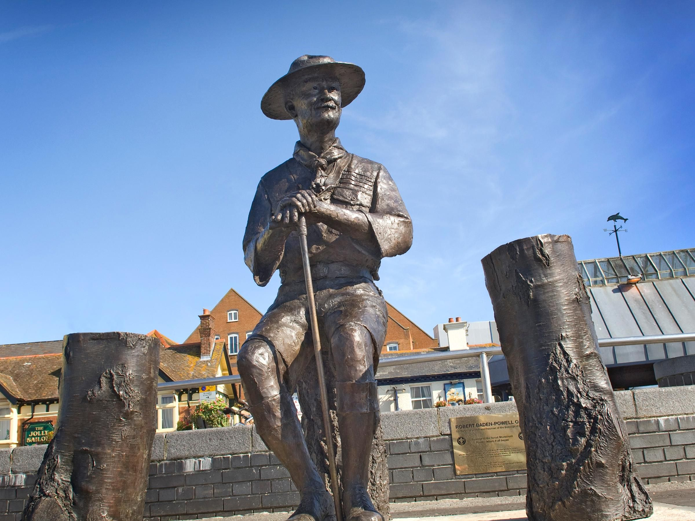 Bladen Powell Statue on Poole Quay