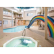 Hot tub, Pool and Rainbow Slide