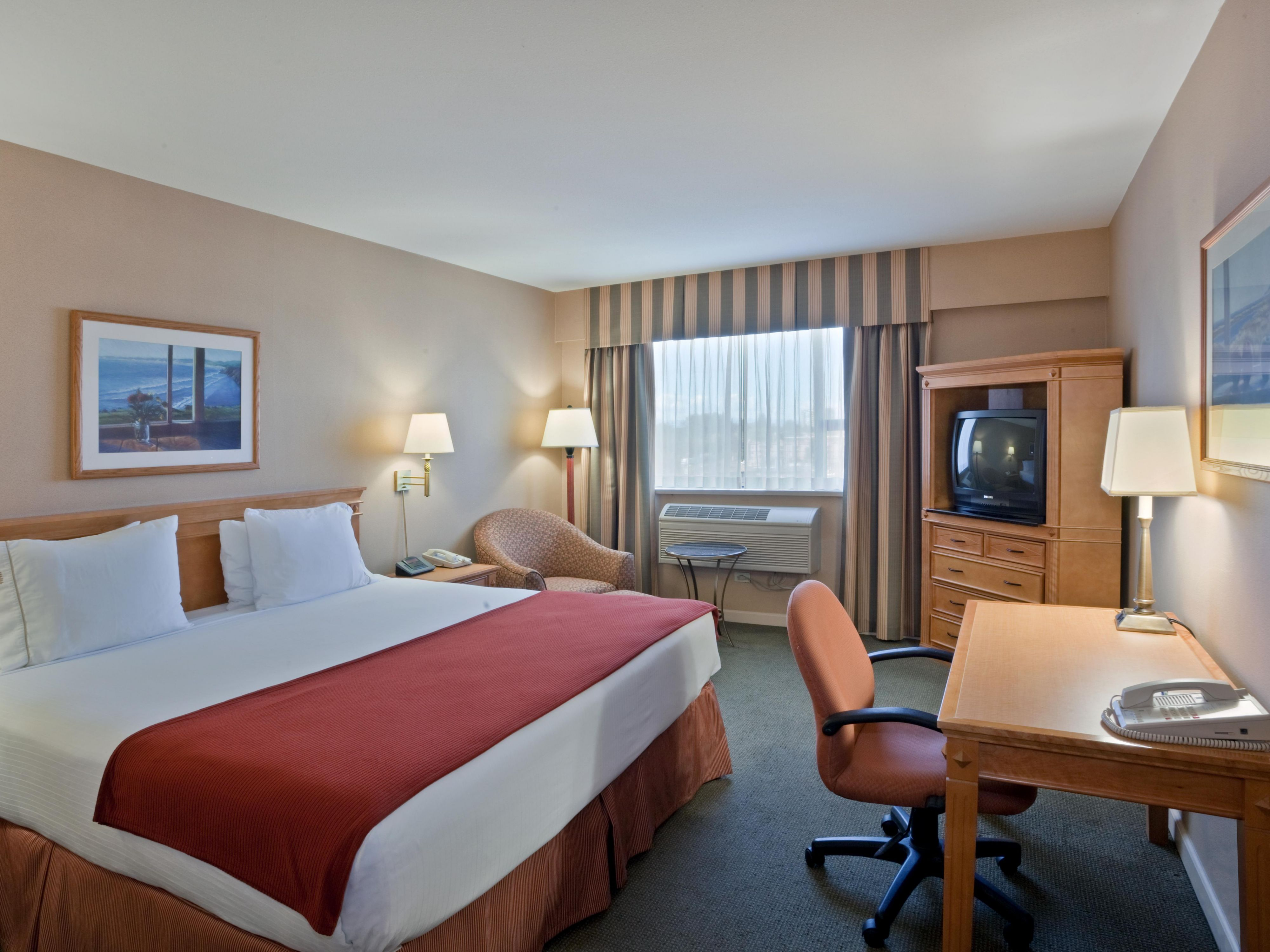 Relax in our Deluxe King Guestroom